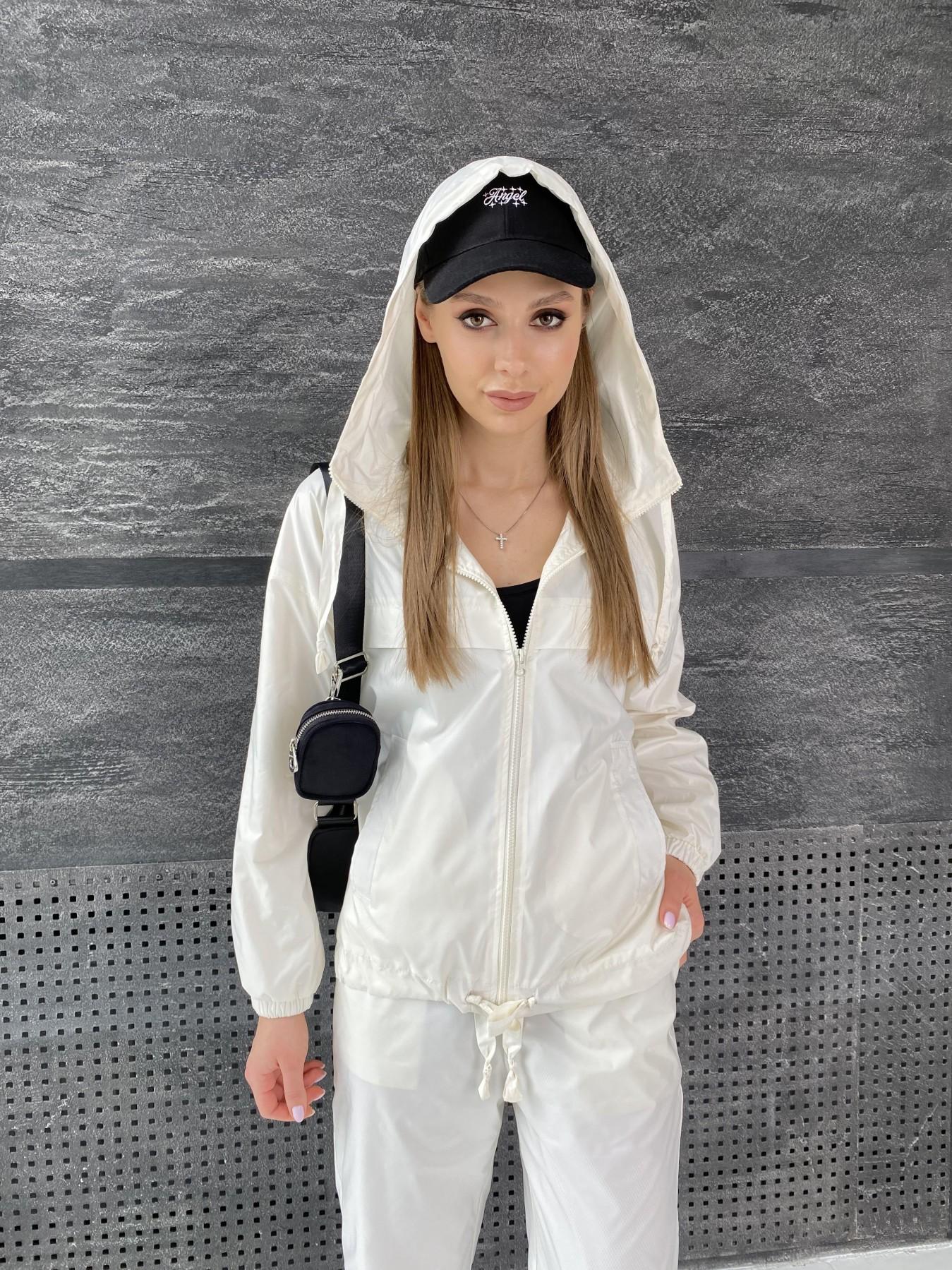 Фит костюм из плащевой ткани 11048 АРТ. 47533 Цвет: Молоко - фото 14, интернет магазин tm-modus.ru