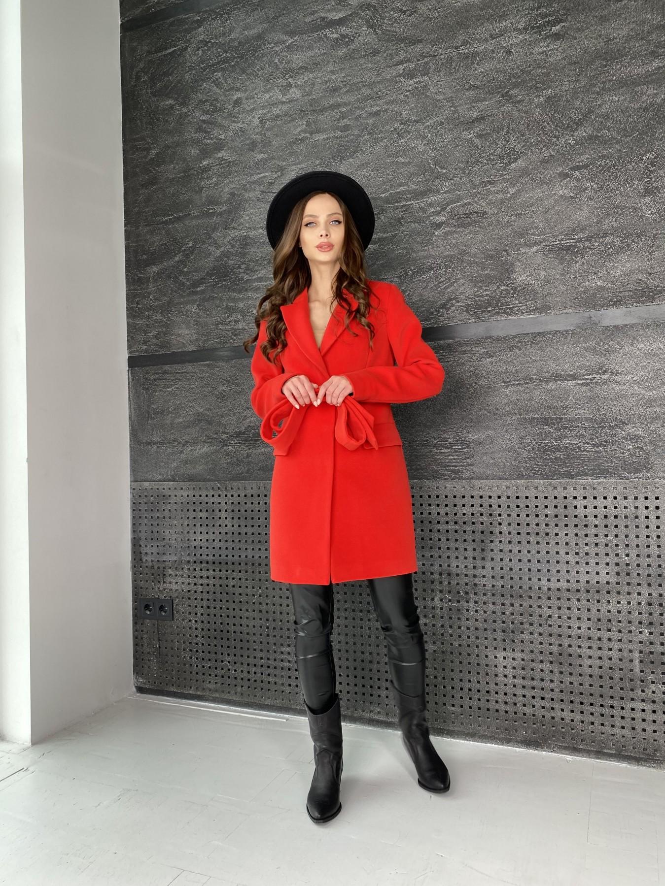 Корсипальто из гладкого кашемира 10893 АРТ. 47363 Цвет: Красный - фото 2, интернет магазин tm-modus.ru