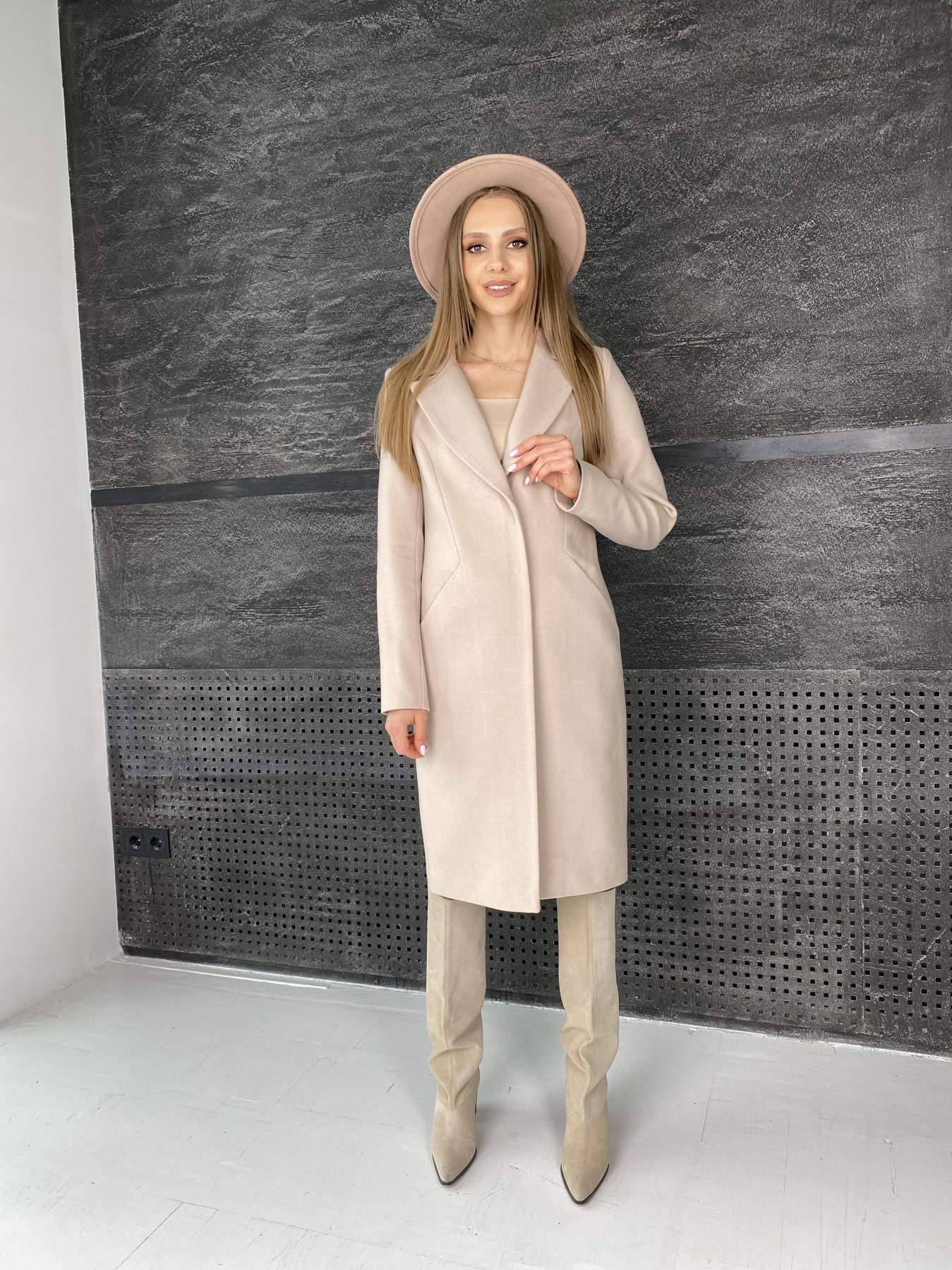 Мехико пальто из гладкого кашемира 10891 АРТ. 47359 Цвет: Кофе - фото 2, интернет магазин tm-modus.ru