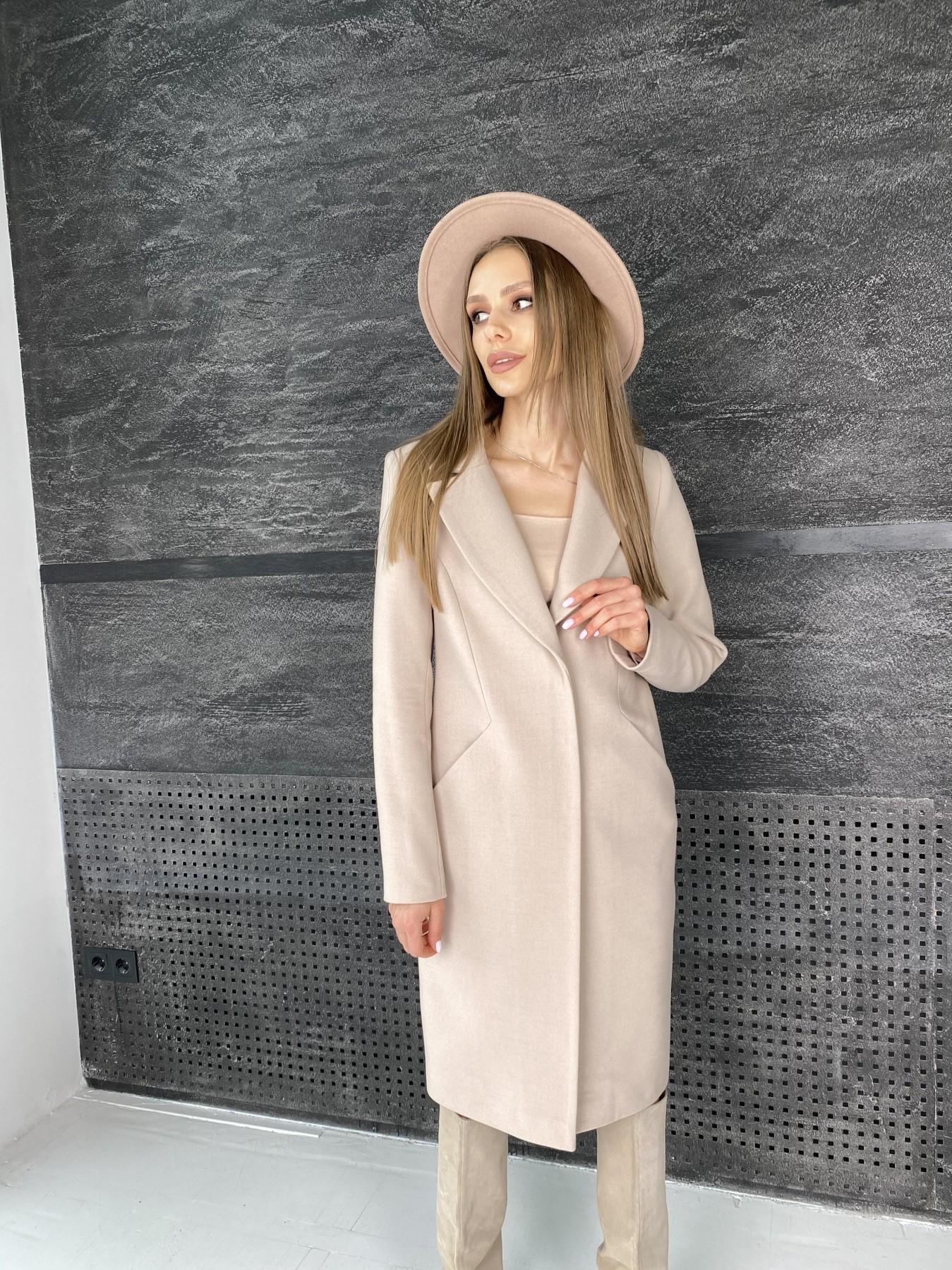 Мехико пальто из гладкого кашемира 10891 АРТ. 47359 Цвет: Кофе - фото 3, интернет магазин tm-modus.ru