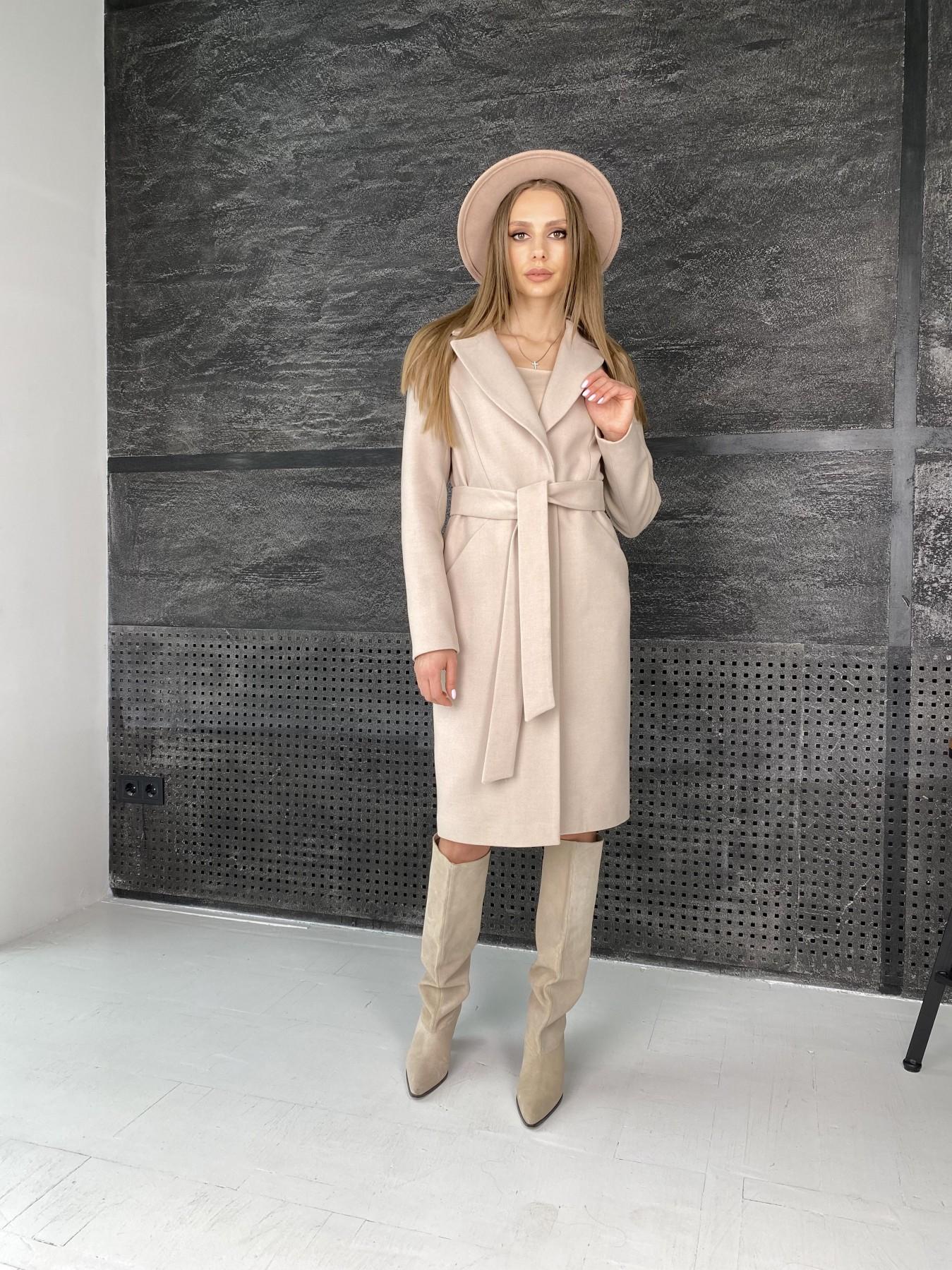 Мехико пальто из гладкого кашемира 10891 АРТ. 47359 Цвет: Кофе - фото 5, интернет магазин tm-modus.ru