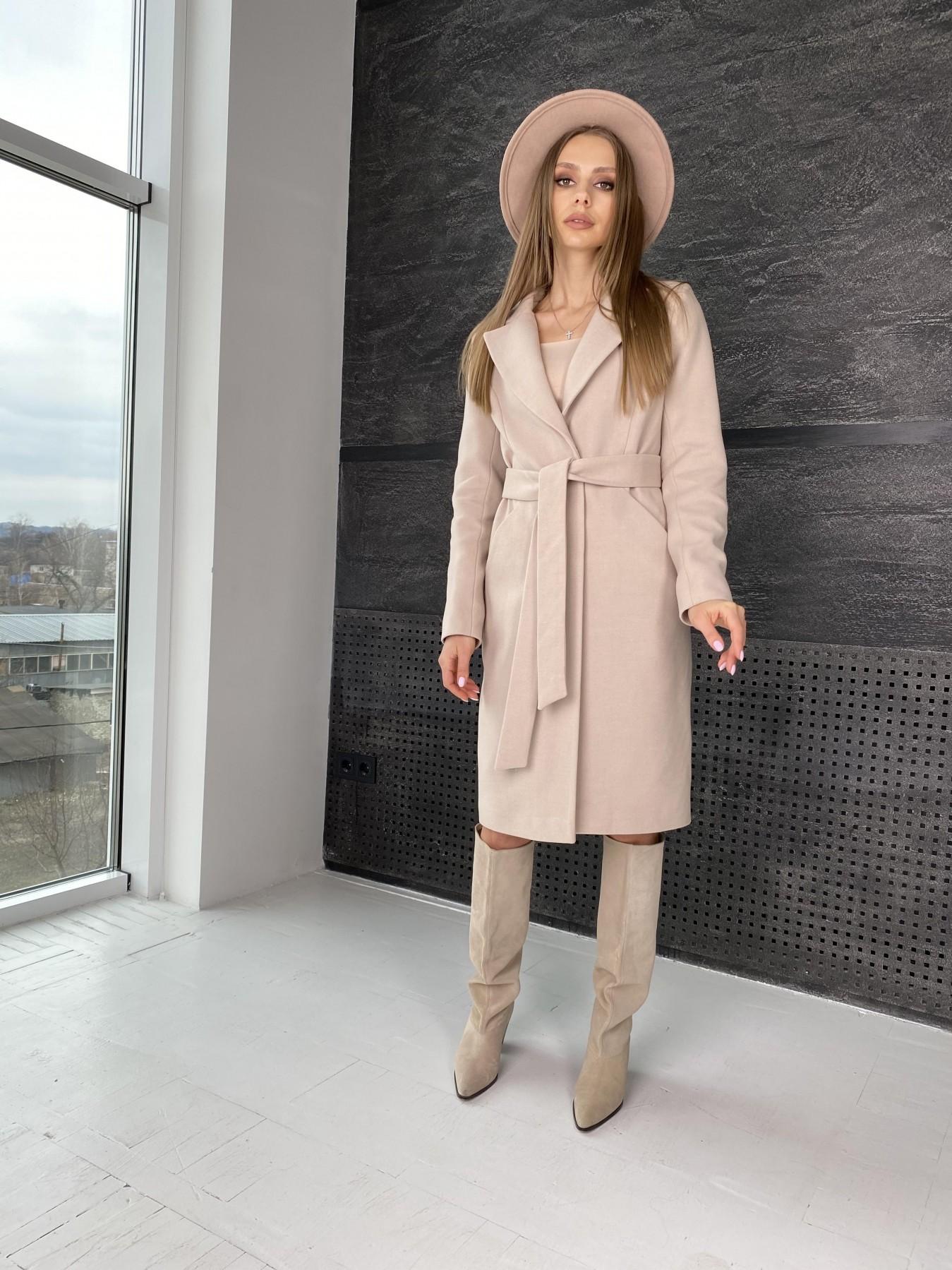 Мехико пальто из гладкого кашемира 10891 АРТ. 47359 Цвет: Кофе - фото 7, интернет магазин tm-modus.ru