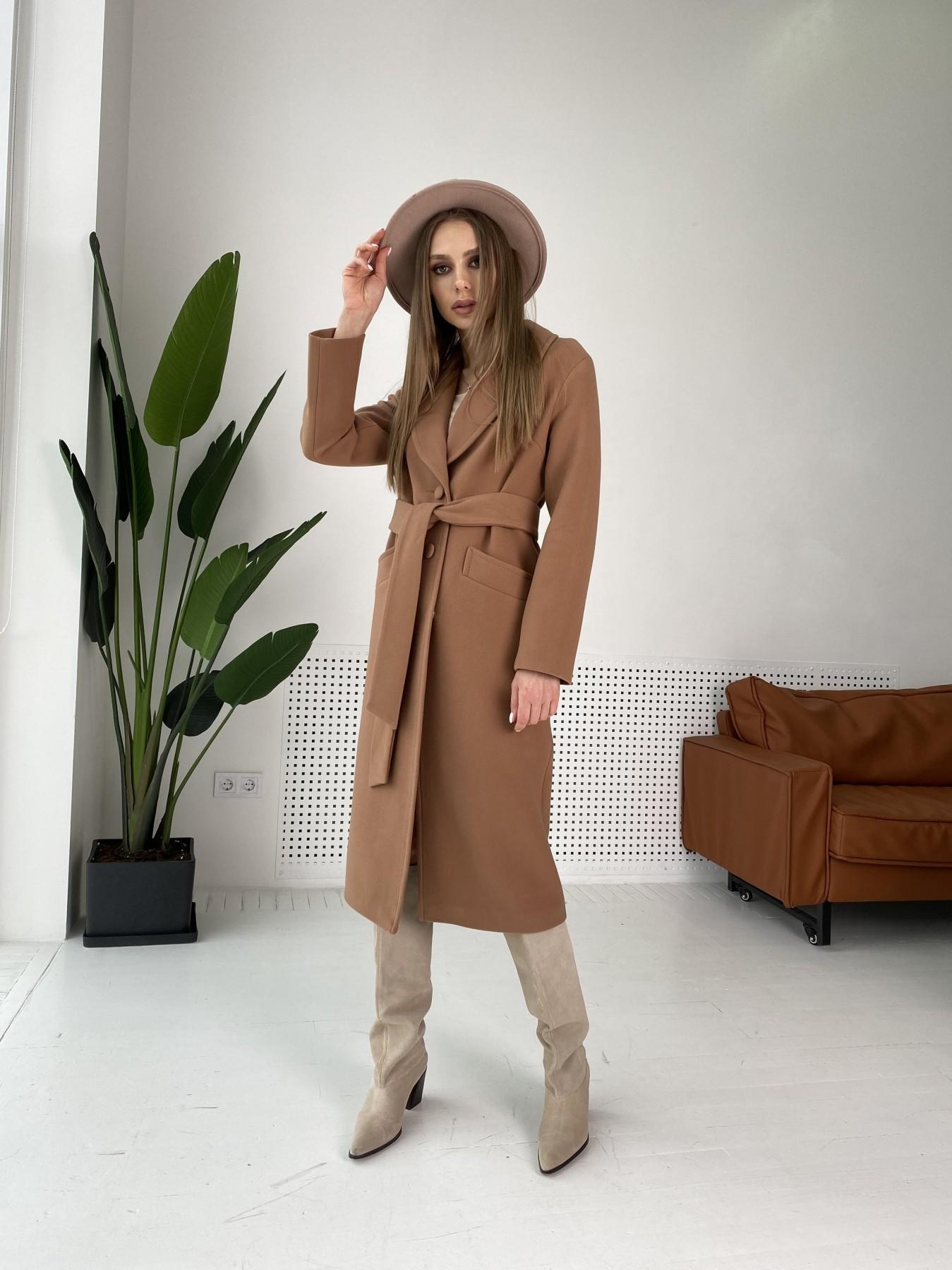 Вейсона макси пальто из кашемира 10603 АРТ. 47430 Цвет: Кемел Темный 8442 - фото 4, интернет магазин tm-modus.ru