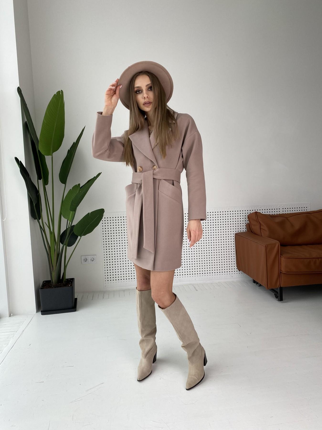 Сенсей пальто  из гладкого кашемира 10905 АРТ. 47372 Цвет: Кофе - фото 2, интернет магазин tm-modus.ru