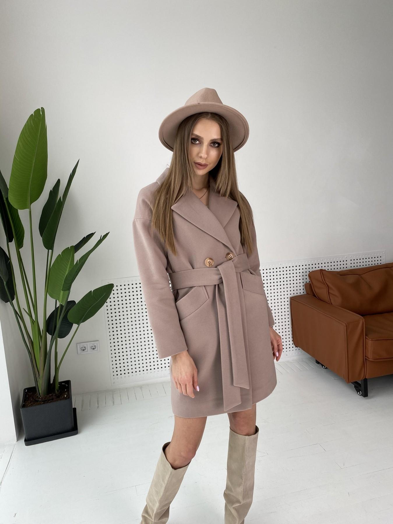 Сенсей пальто  из гладкого кашемира 10905 АРТ. 47372 Цвет: Кофе - фото 3, интернет магазин tm-modus.ru