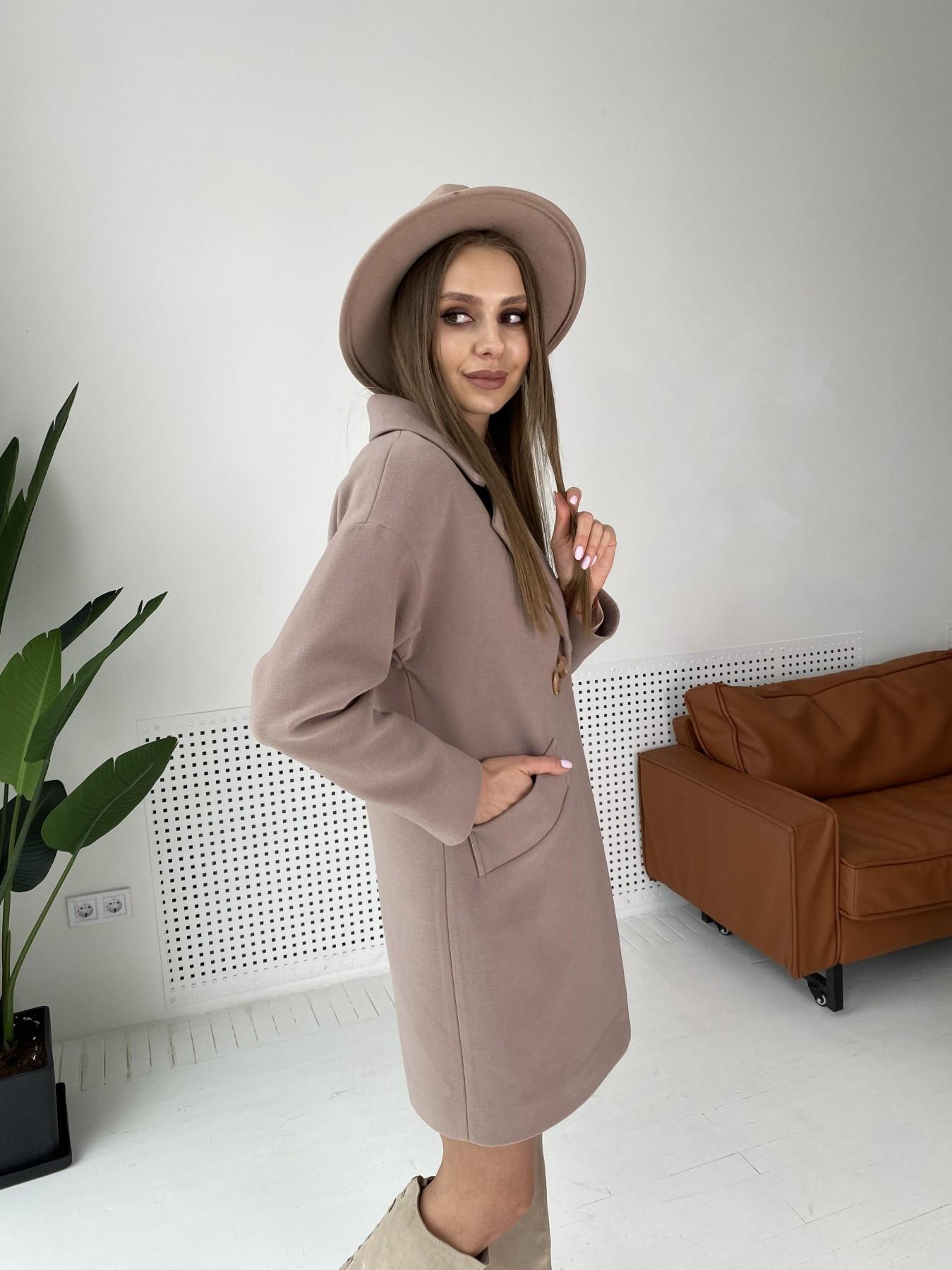 Сенсей пальто  из гладкого кашемира 10905 АРТ. 47372 Цвет: Кофе - фото 4, интернет магазин tm-modus.ru
