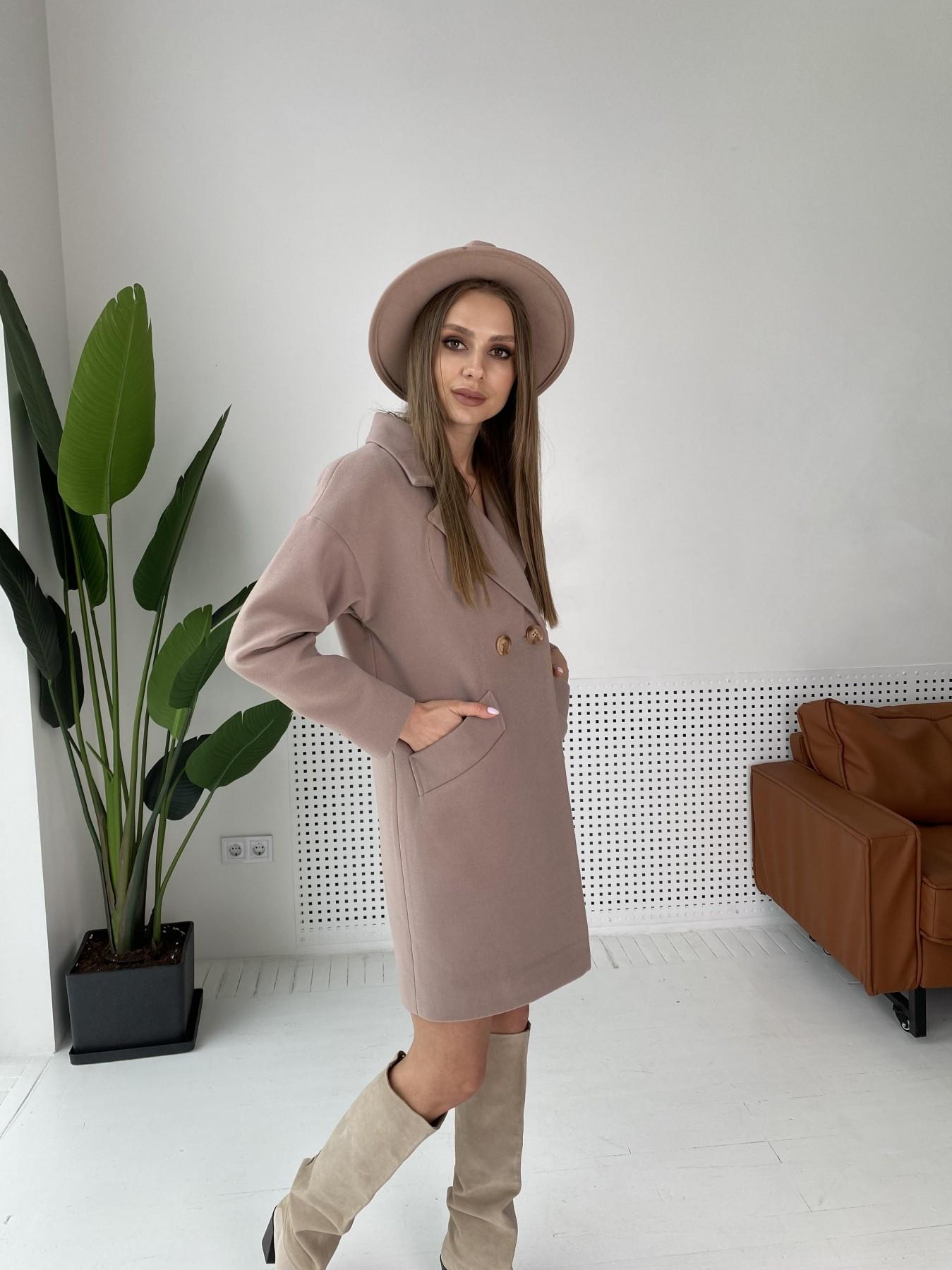 Сенсей пальто  из гладкого кашемира 10905 АРТ. 47372 Цвет: Кофе - фото 5, интернет магазин tm-modus.ru