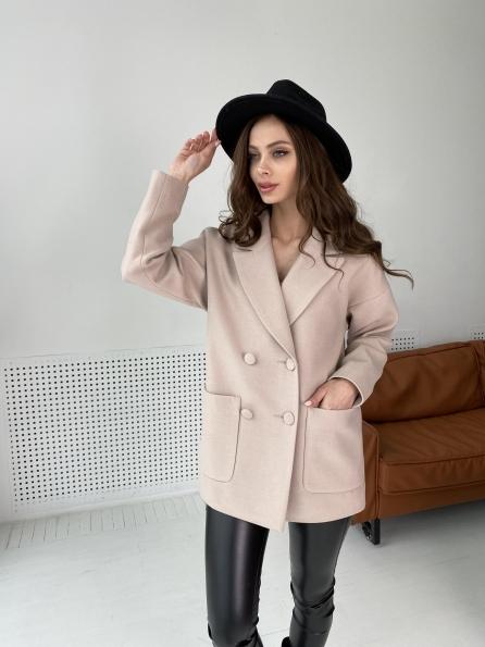 """Купить """"Мансера"""" пальто  из гладкого кашемира 10898 оптом и в розницу"""