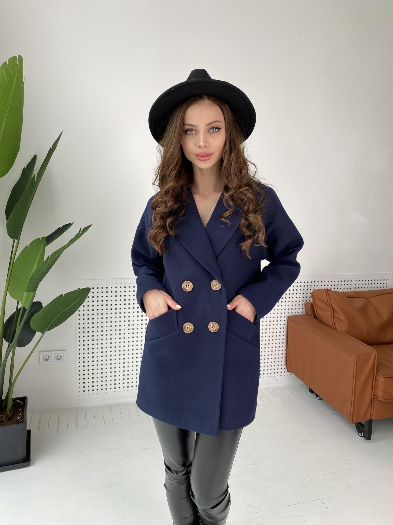 Бонд пальто из гладкого кашемира 10900 АРТ. 47454 Цвет: Темно синий - фото 3, интернет магазин tm-modus.ru