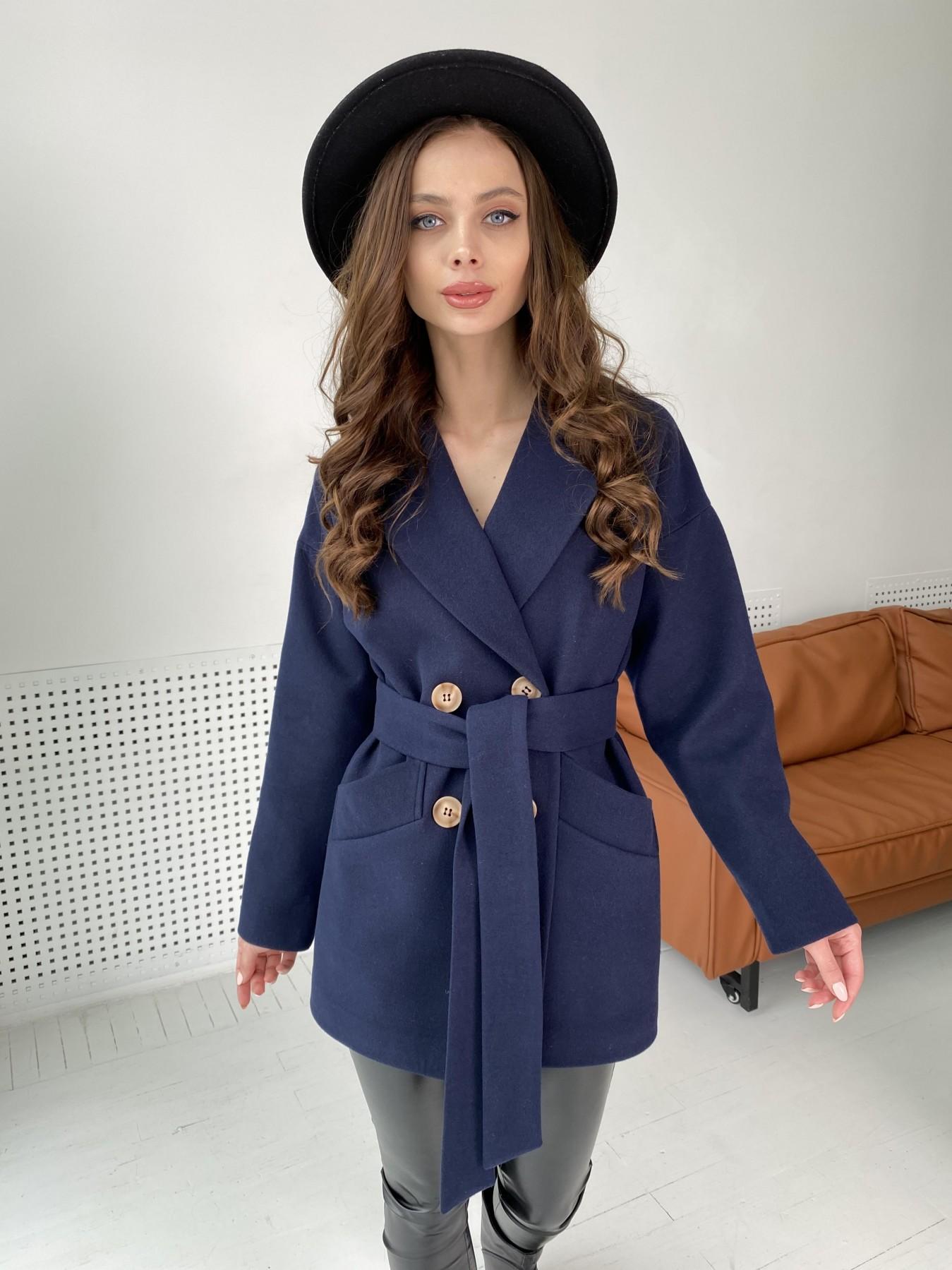 Бонд пальто из гладкого кашемира 10900 АРТ. 47454 Цвет: Темно синий - фото 9, интернет магазин tm-modus.ru