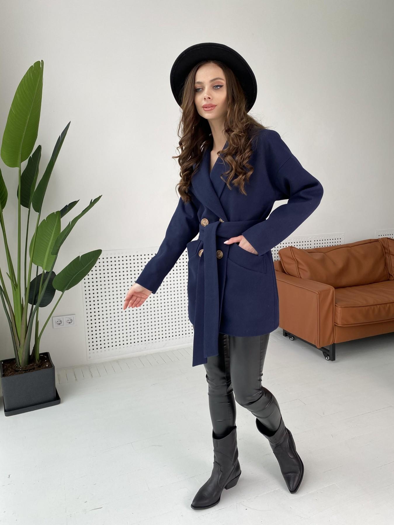 Бонд пальто из гладкого кашемира 10900 АРТ. 47454 Цвет: Темно синий - фото 11, интернет магазин tm-modus.ru