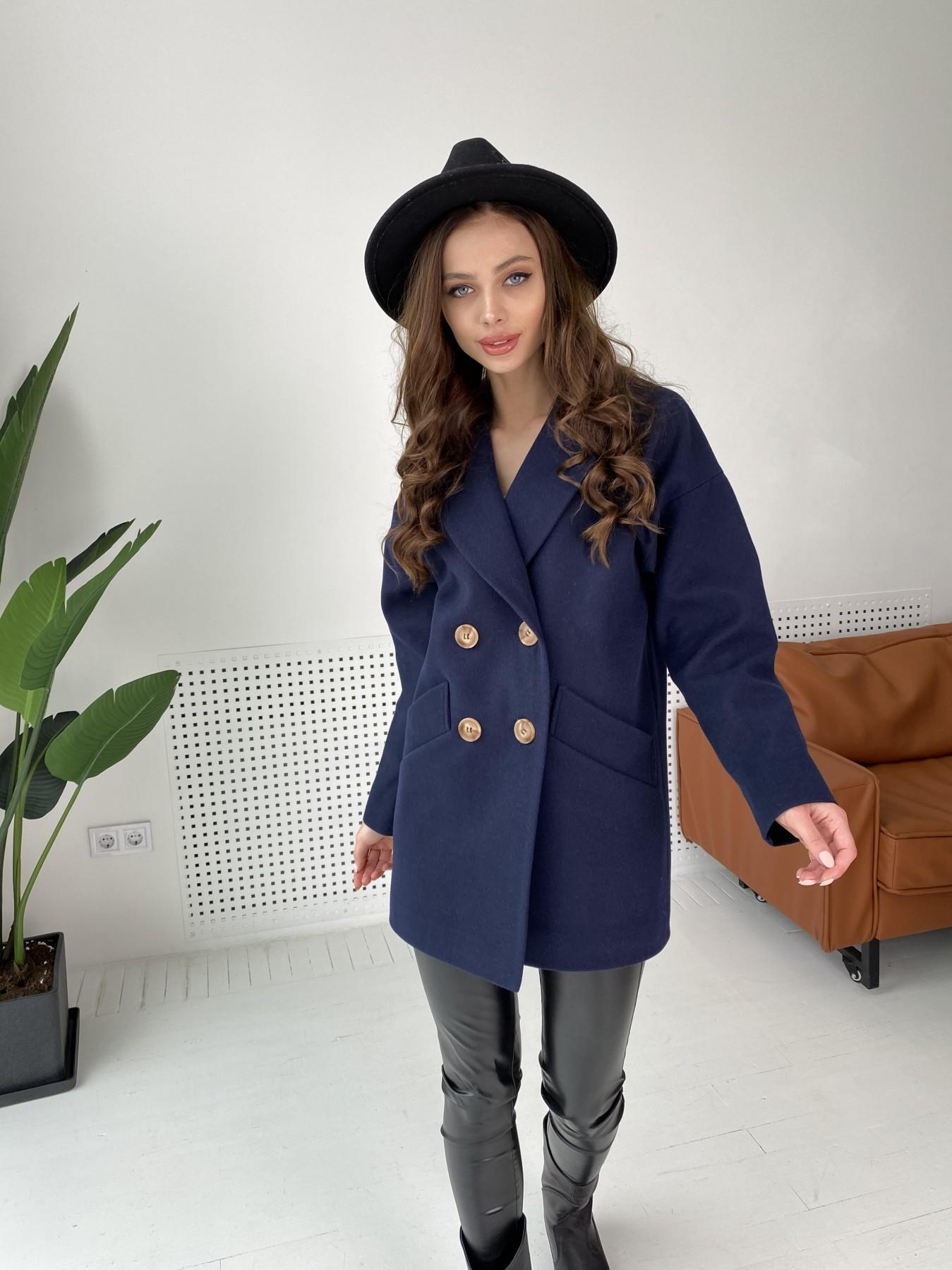Бонд пальто из гладкого кашемира 10900 АРТ. 47454 Цвет: Темно синий - фото 6, интернет магазин tm-modus.ru