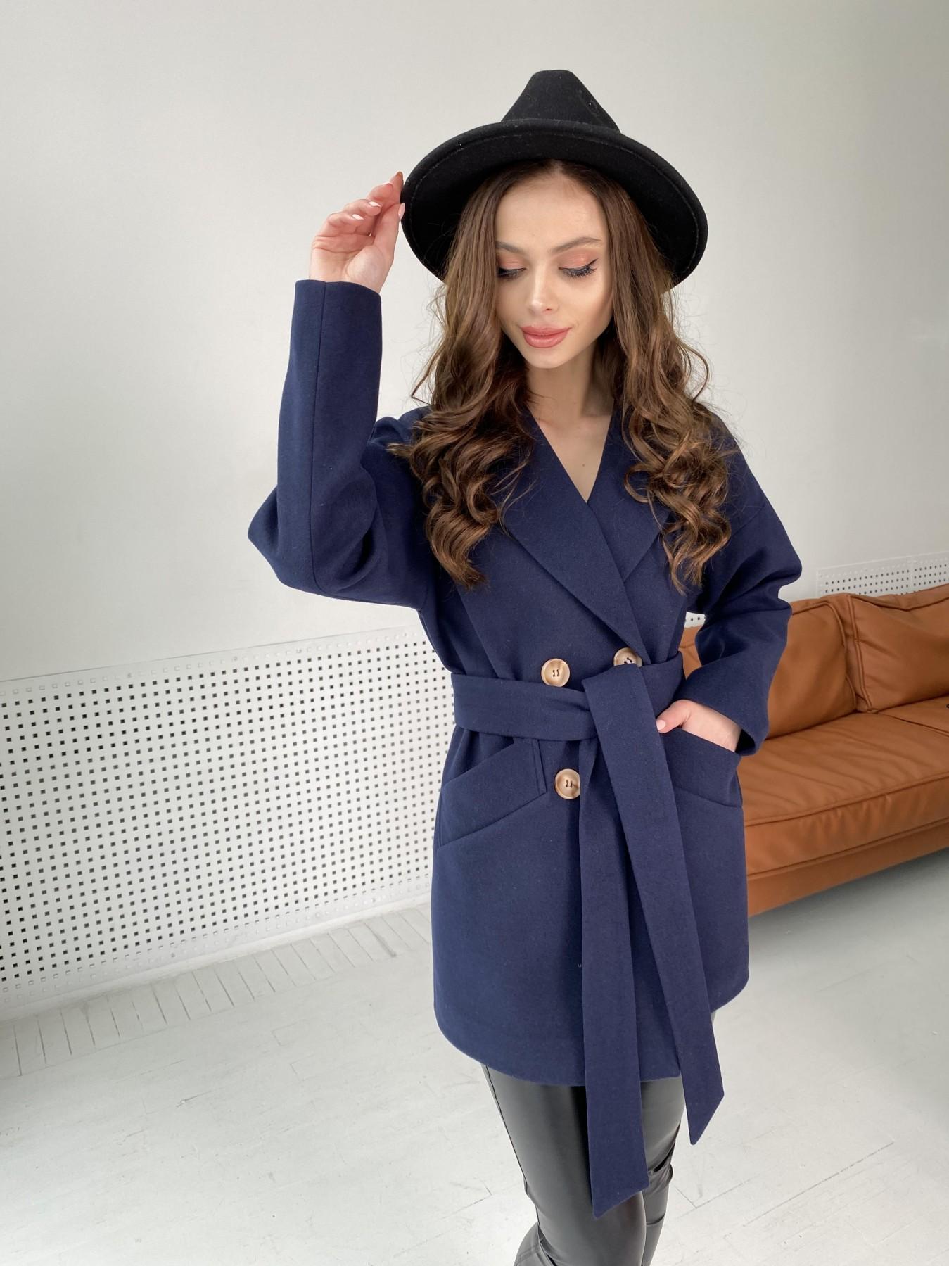 Бонд пальто из гладкого кашемира 10900 АРТ. 47454 Цвет: Темно синий - фото 8, интернет магазин tm-modus.ru