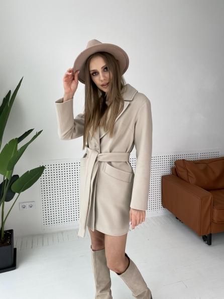 Вейсона пальто  из кашемира  10854 Цвет: Бежевый Светлый