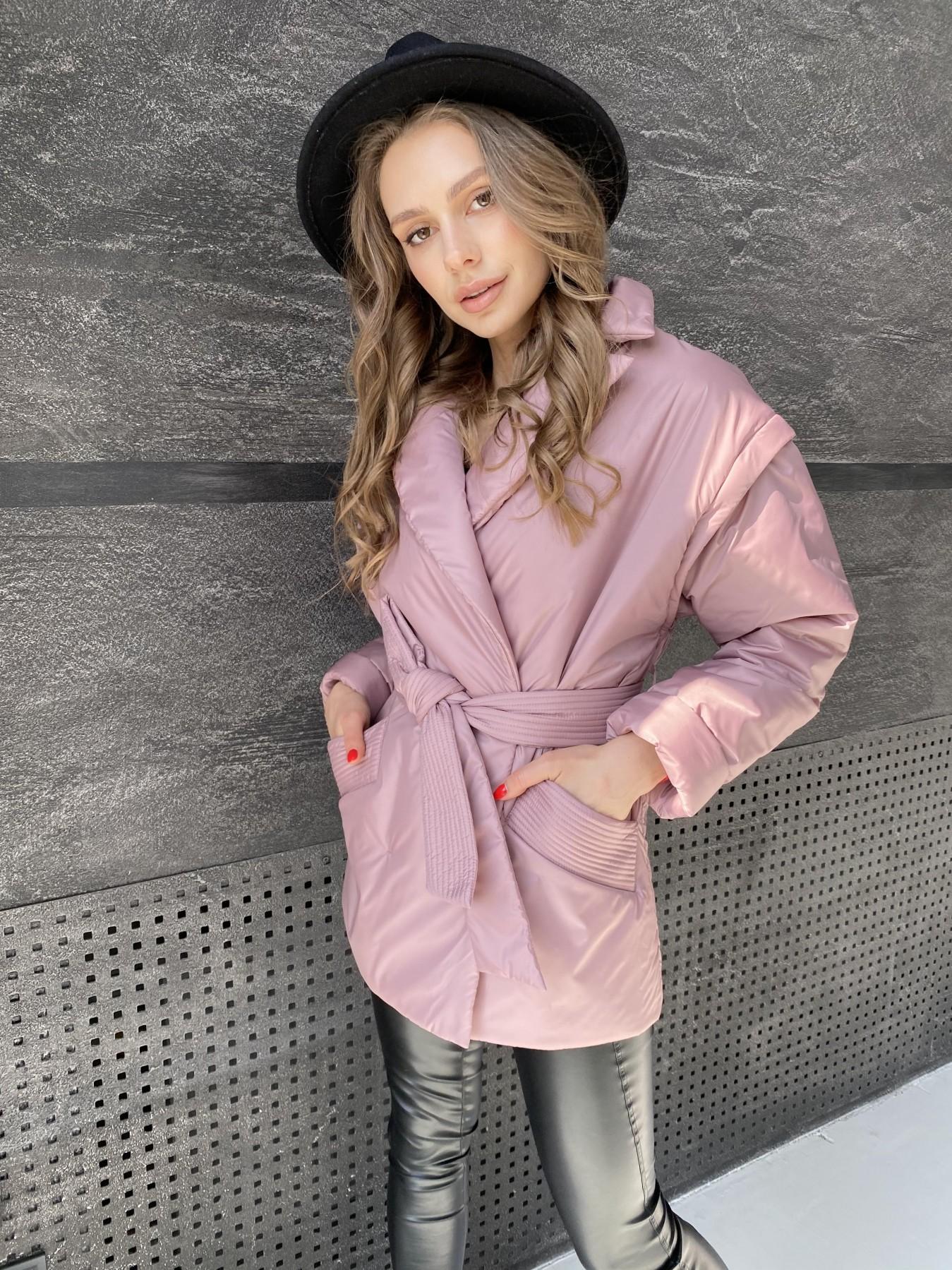 Форбс куртка из плащевой ткани 10986 АРТ. 47477 Цвет: Пудра - фото 3, интернет магазин tm-modus.ru