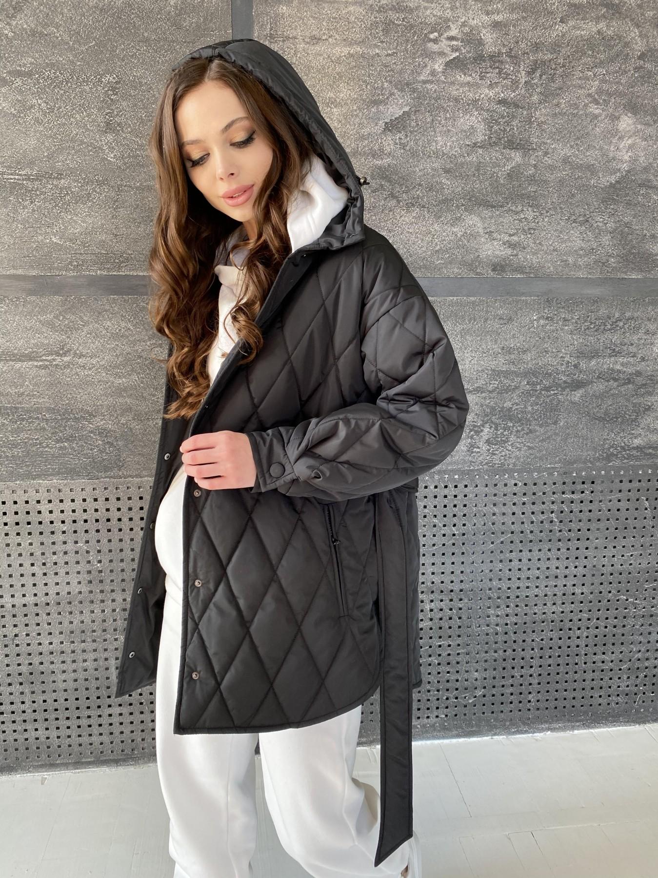 Пазл стеганая куртка из плащевки 10890 АРТ. 47425 Цвет: Черный - фото 1, интернет магазин tm-modus.ru