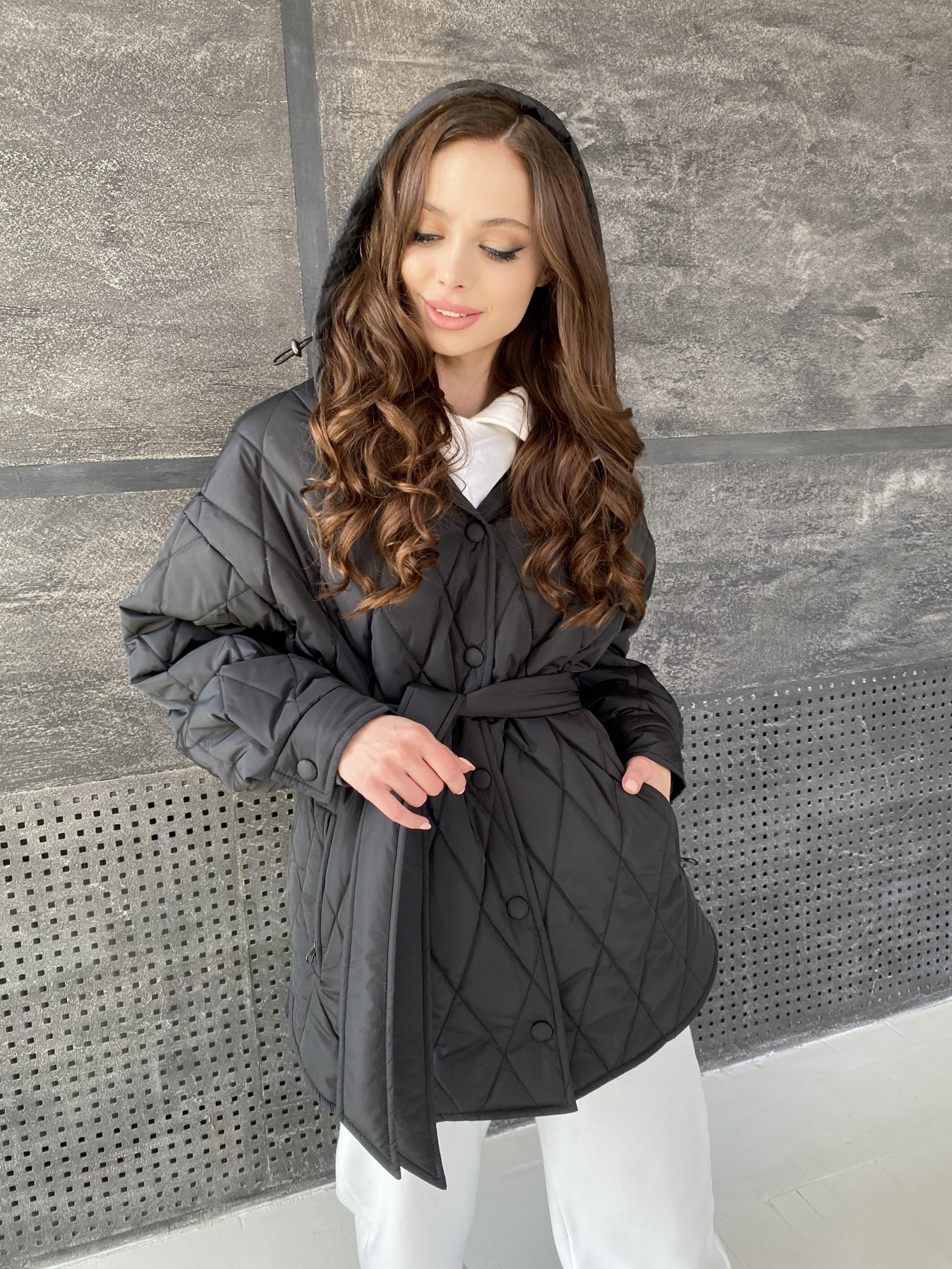 купить женскую демисезонную куртку в интернет магазине Пазл стеганая куртка из плащевки 10890