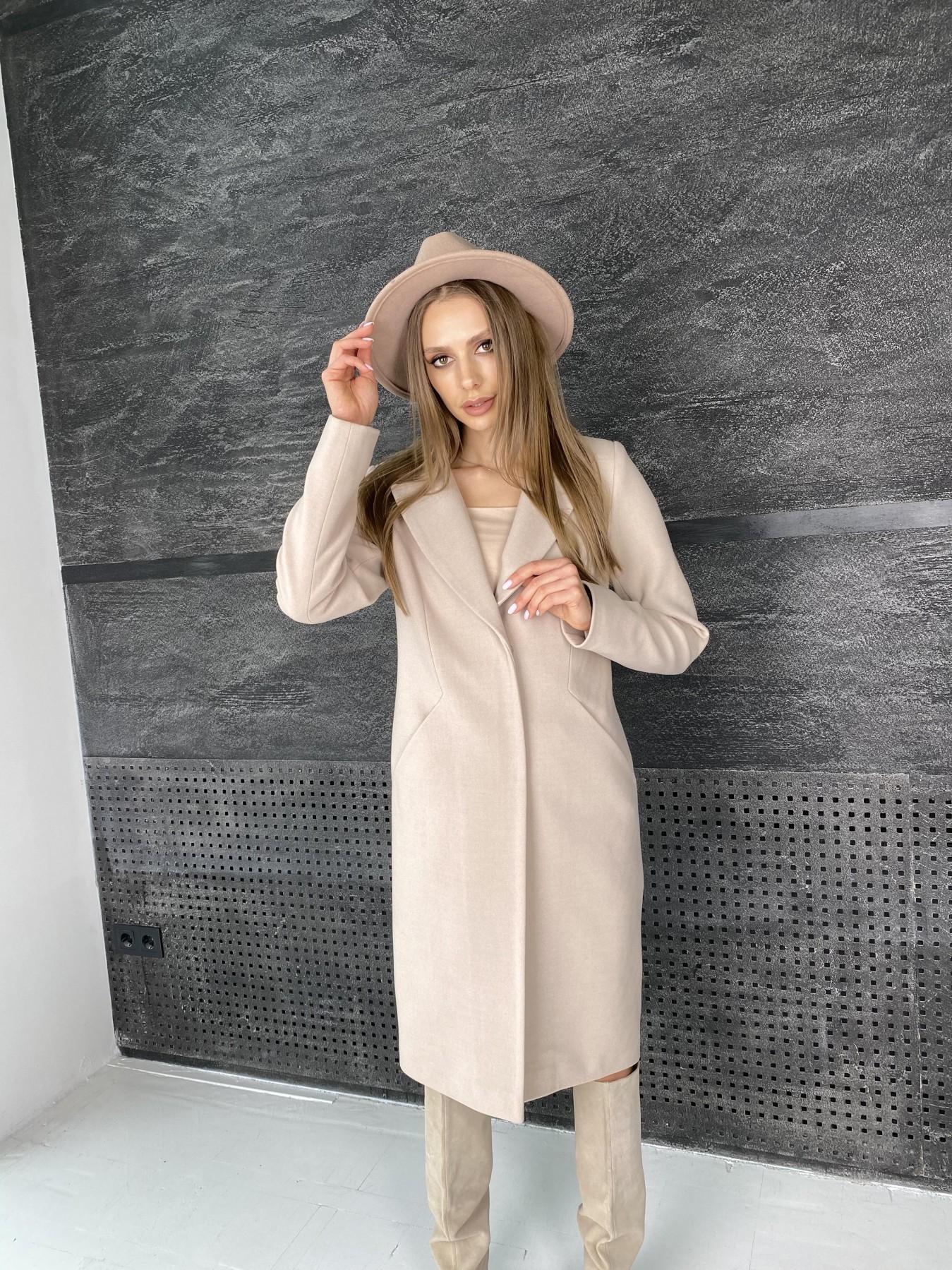 Мехико пальто из гладкого кашемира 10891 АРТ. 47360 Цвет: Бежевый - фото 2, интернет магазин tm-modus.ru