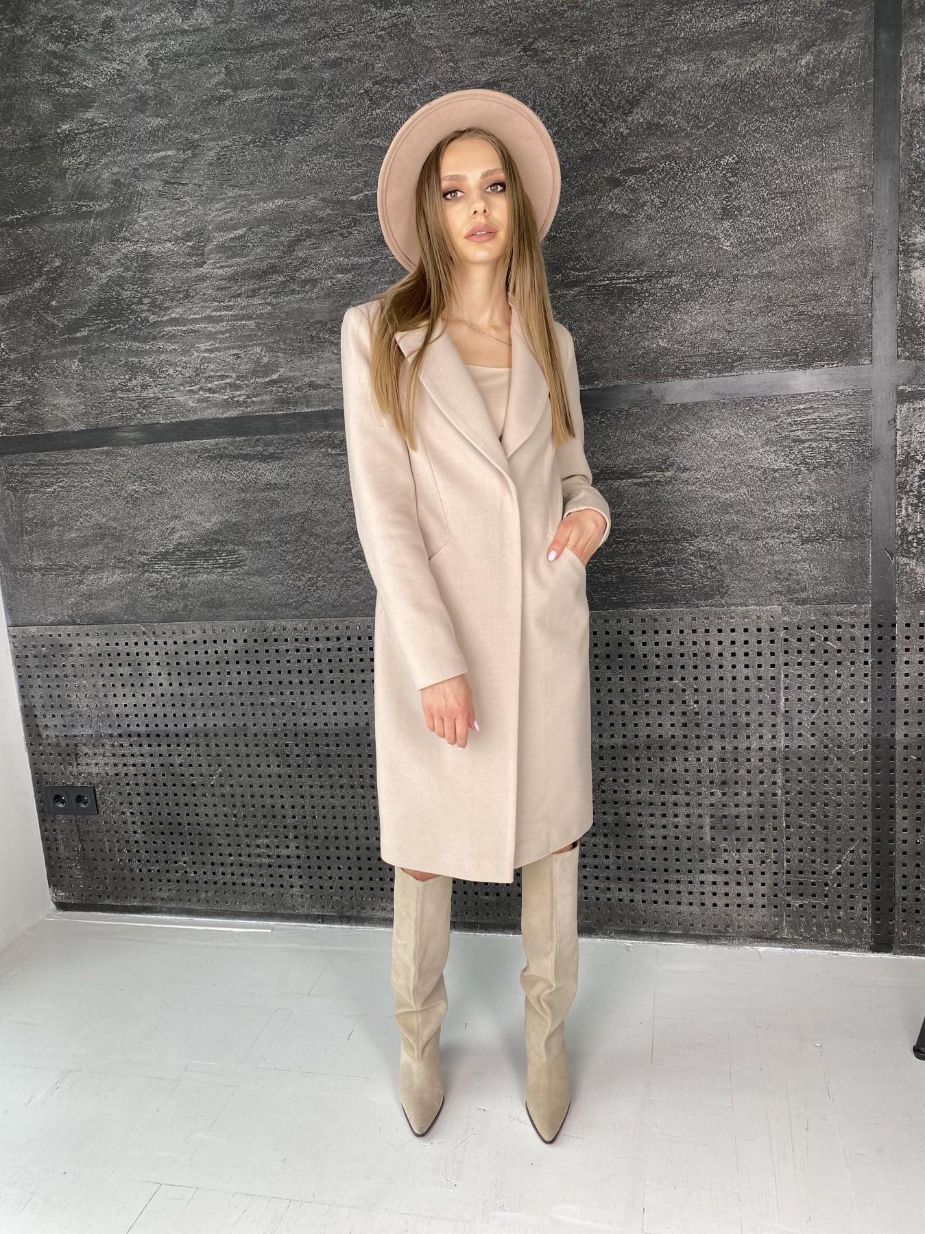 Мехико пальто из гладкого кашемира 10891 АРТ. 47360 Цвет: Бежевый - фото 4, интернет магазин tm-modus.ru