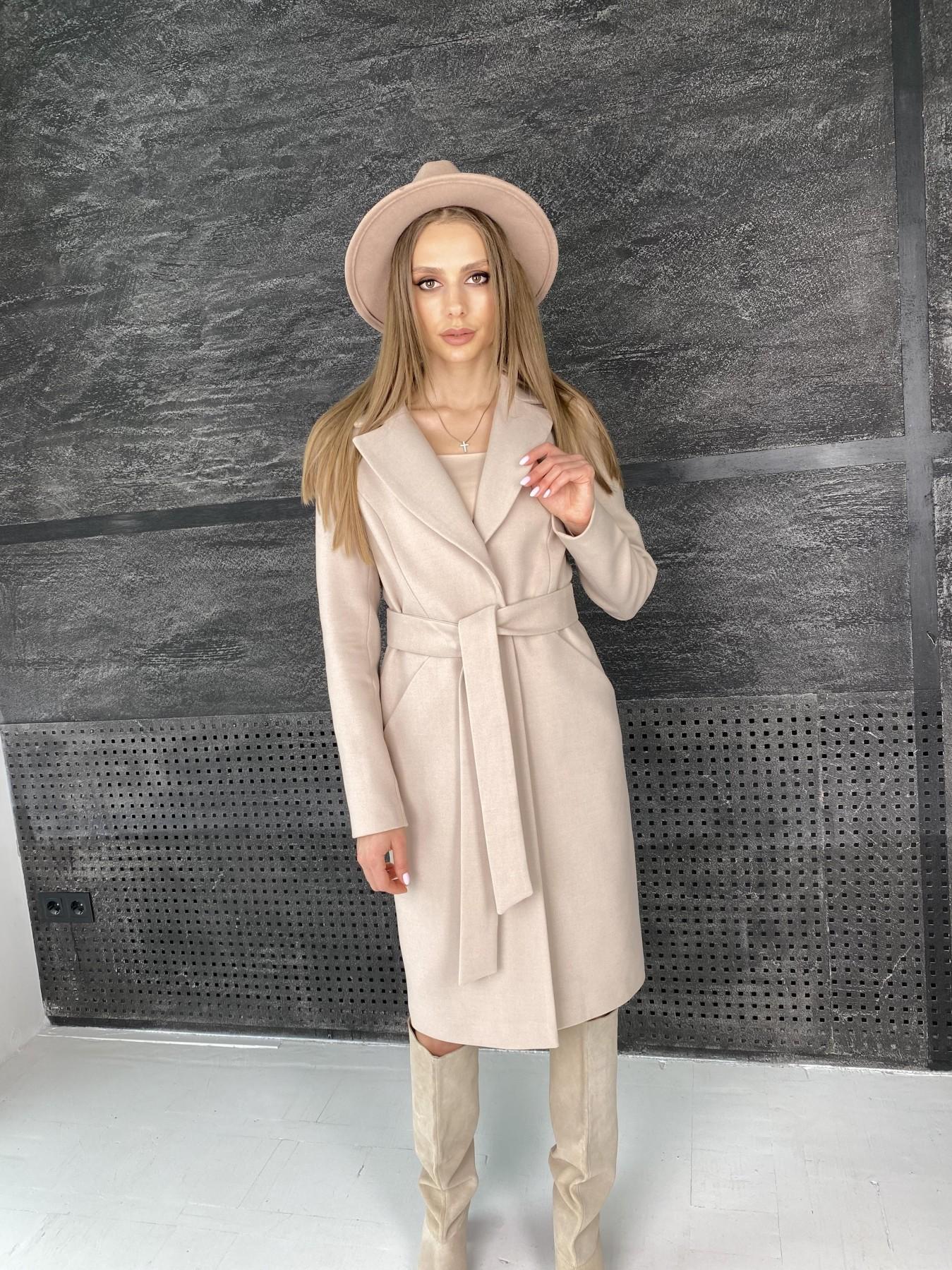 Мехико пальто из гладкого кашемира 10891 АРТ. 47360 Цвет: Бежевый - фото 6, интернет магазин tm-modus.ru