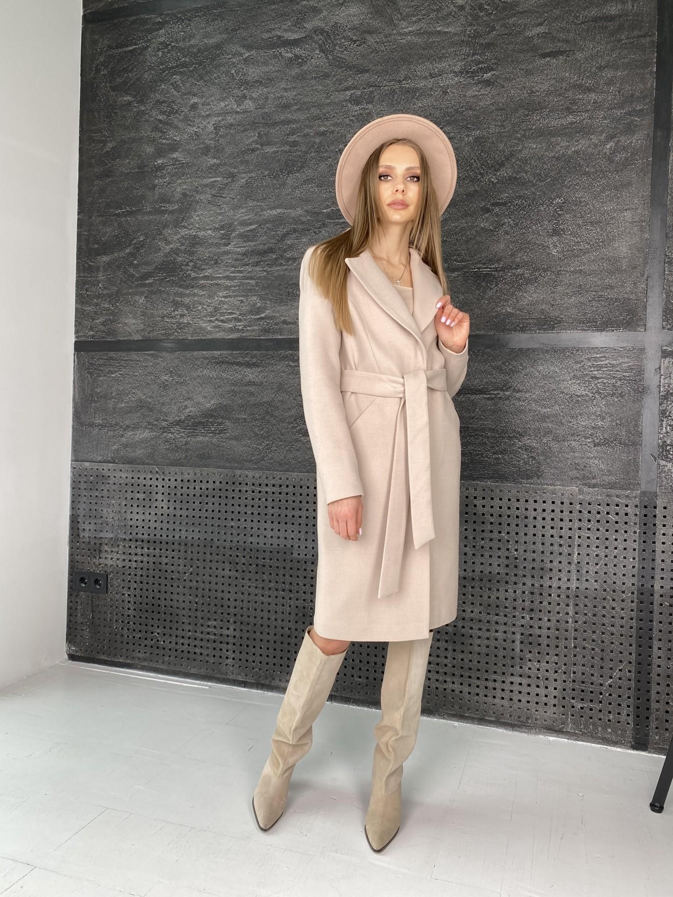 Мехико пальто из гладкого кашемира 10891 АРТ. 47360 Цвет: Бежевый - фото 7, интернет магазин tm-modus.ru