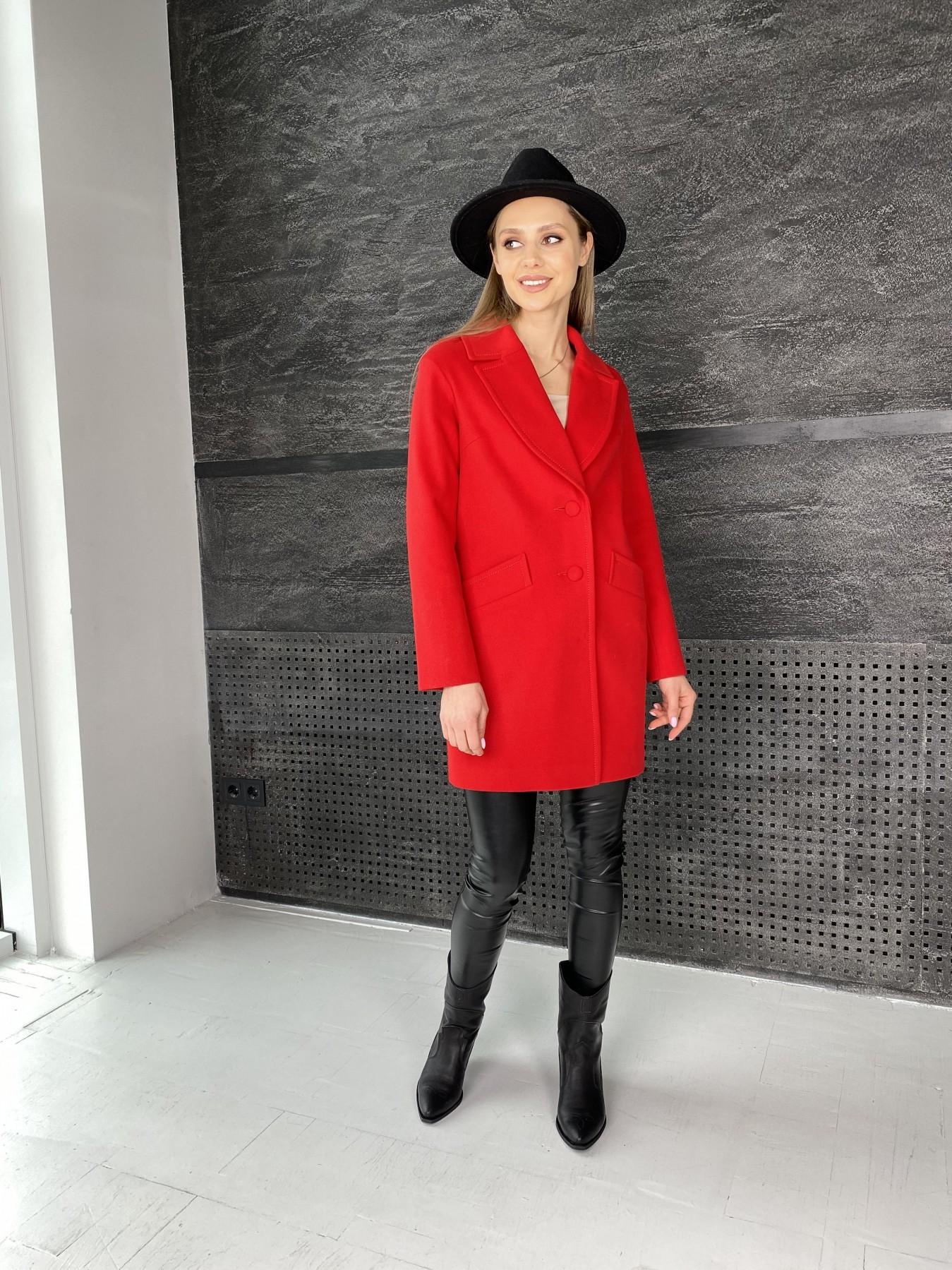 Вейсона пальто  из кашемира  10854 АРТ. 47442 Цвет: Красный - фото 2, интернет магазин tm-modus.ru