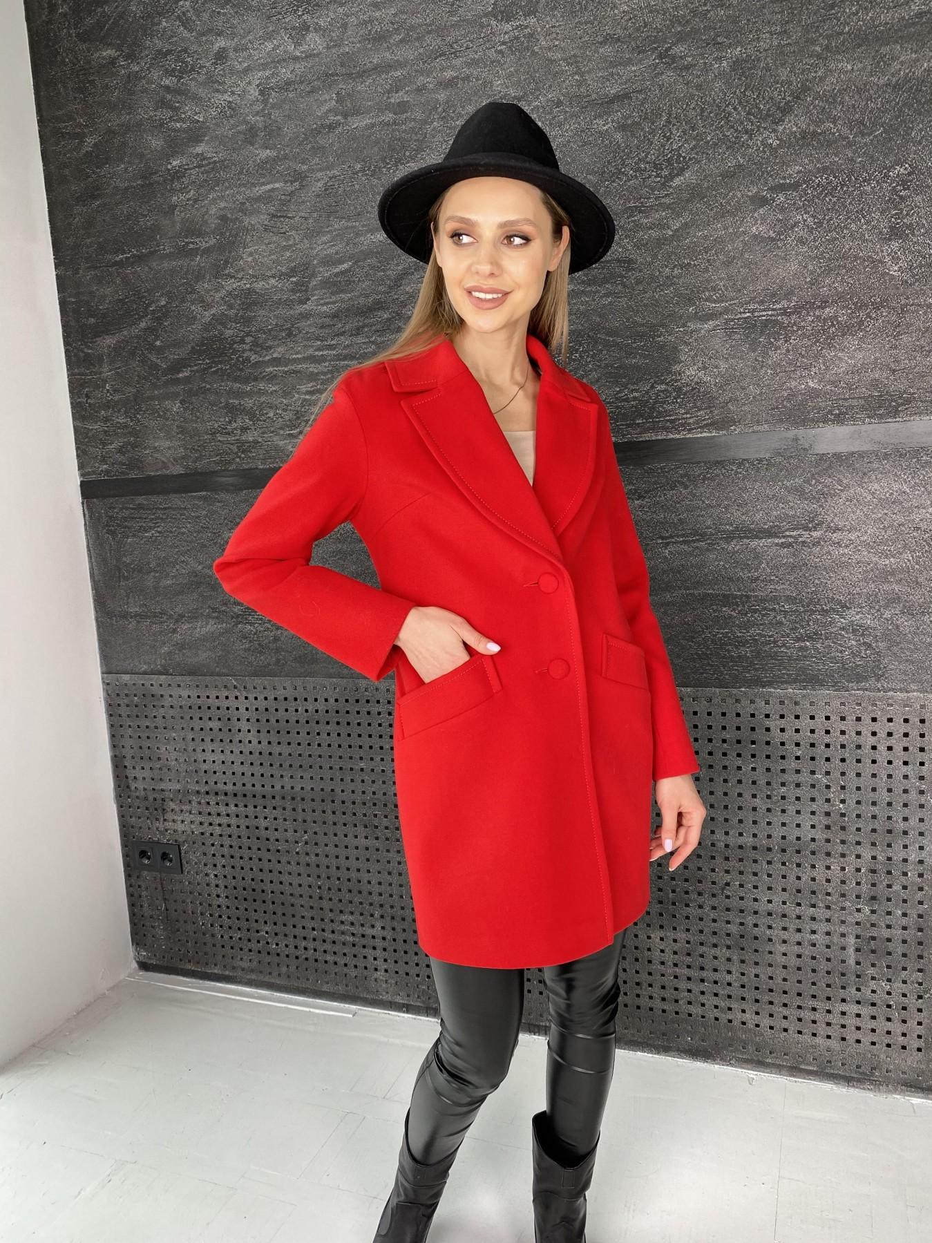 Вейсона пальто  из кашемира  10854 АРТ. 47442 Цвет: Красный - фото 3, интернет магазин tm-modus.ru