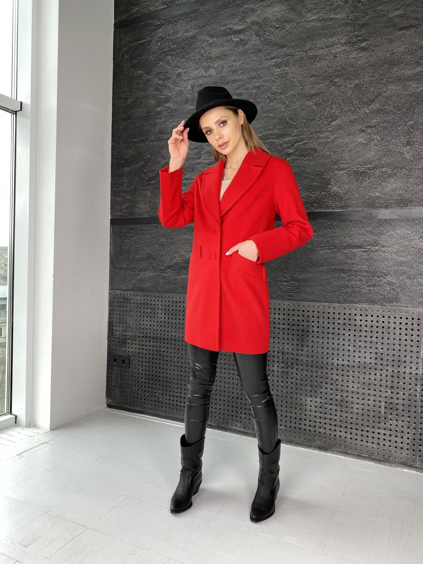 Вейсона пальто  из кашемира  10854 АРТ. 47442 Цвет: Красный - фото 5, интернет магазин tm-modus.ru