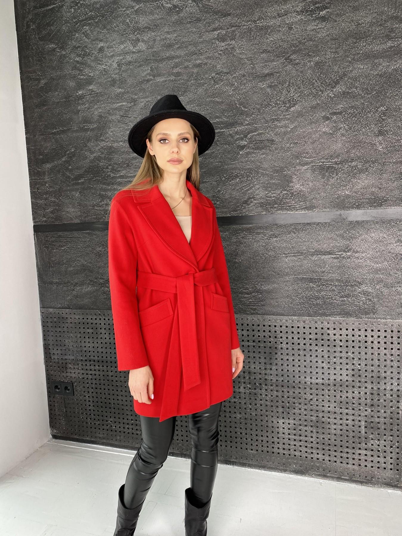 Вейсона пальто  из кашемира  10854 АРТ. 47442 Цвет: Красный - фото 6, интернет магазин tm-modus.ru