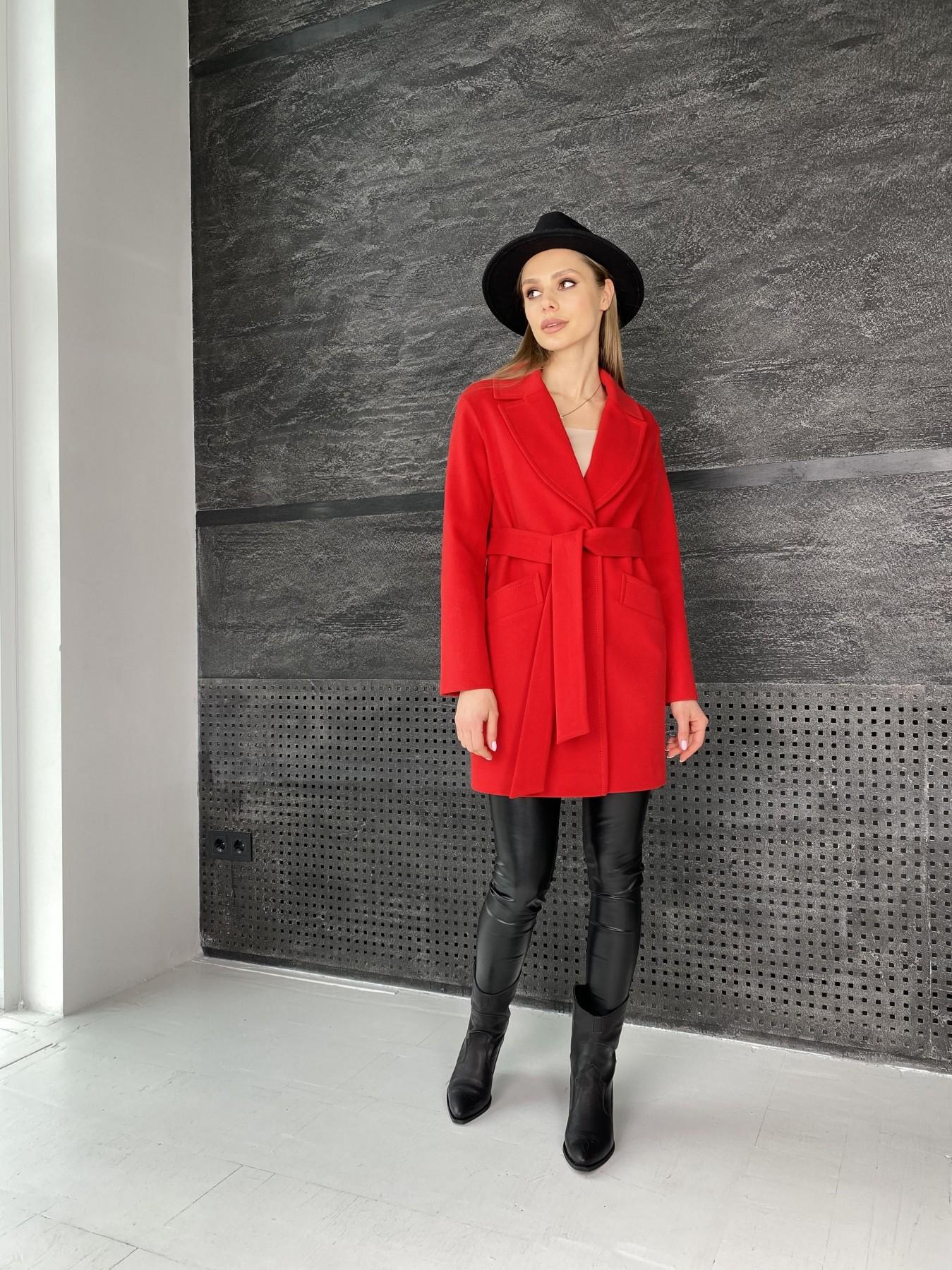 Вейсона пальто  из кашемира  10854 АРТ. 47442 Цвет: Красный - фото 7, интернет магазин tm-modus.ru