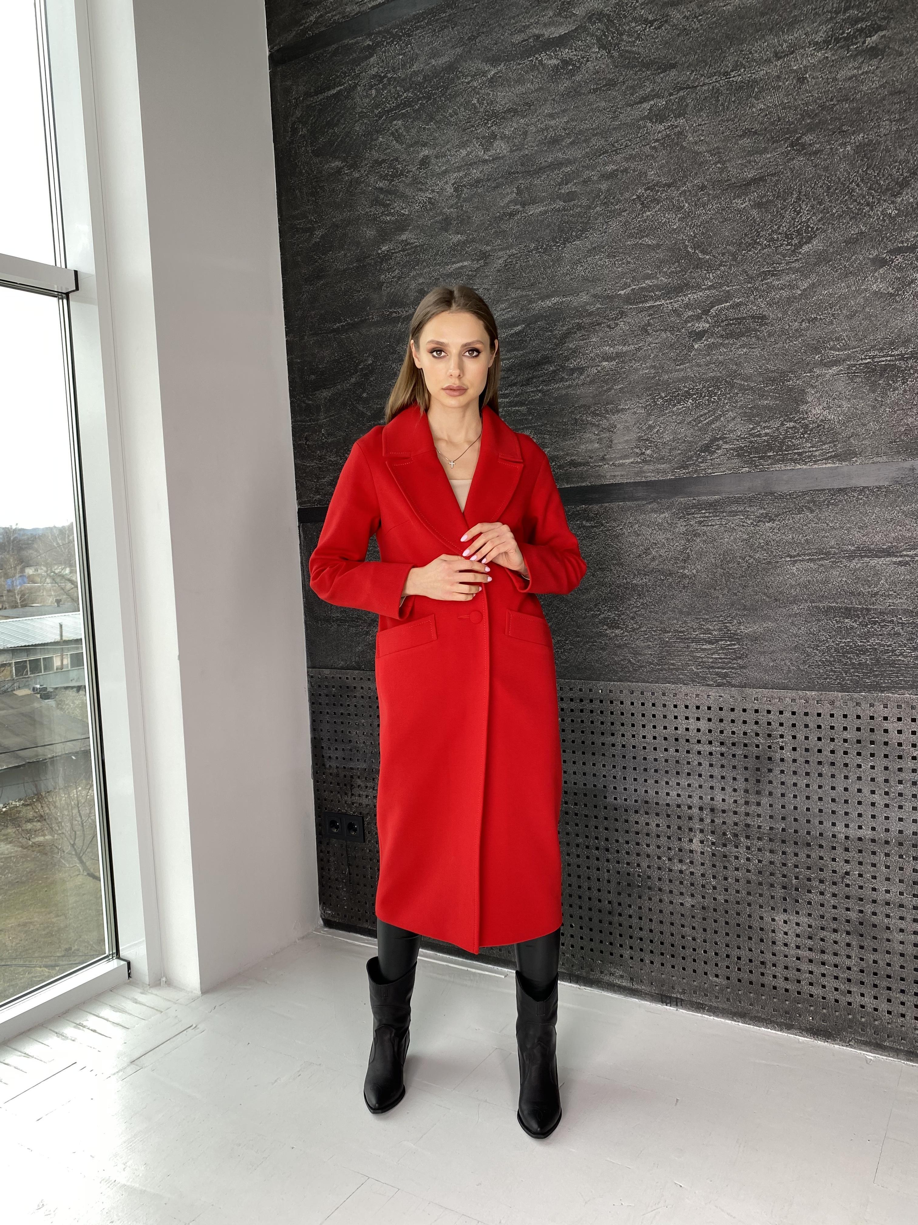Вейсона макси пальто из кашемира 10603 АРТ. 47431 Цвет: Красный - фото 2, интернет магазин tm-modus.ru