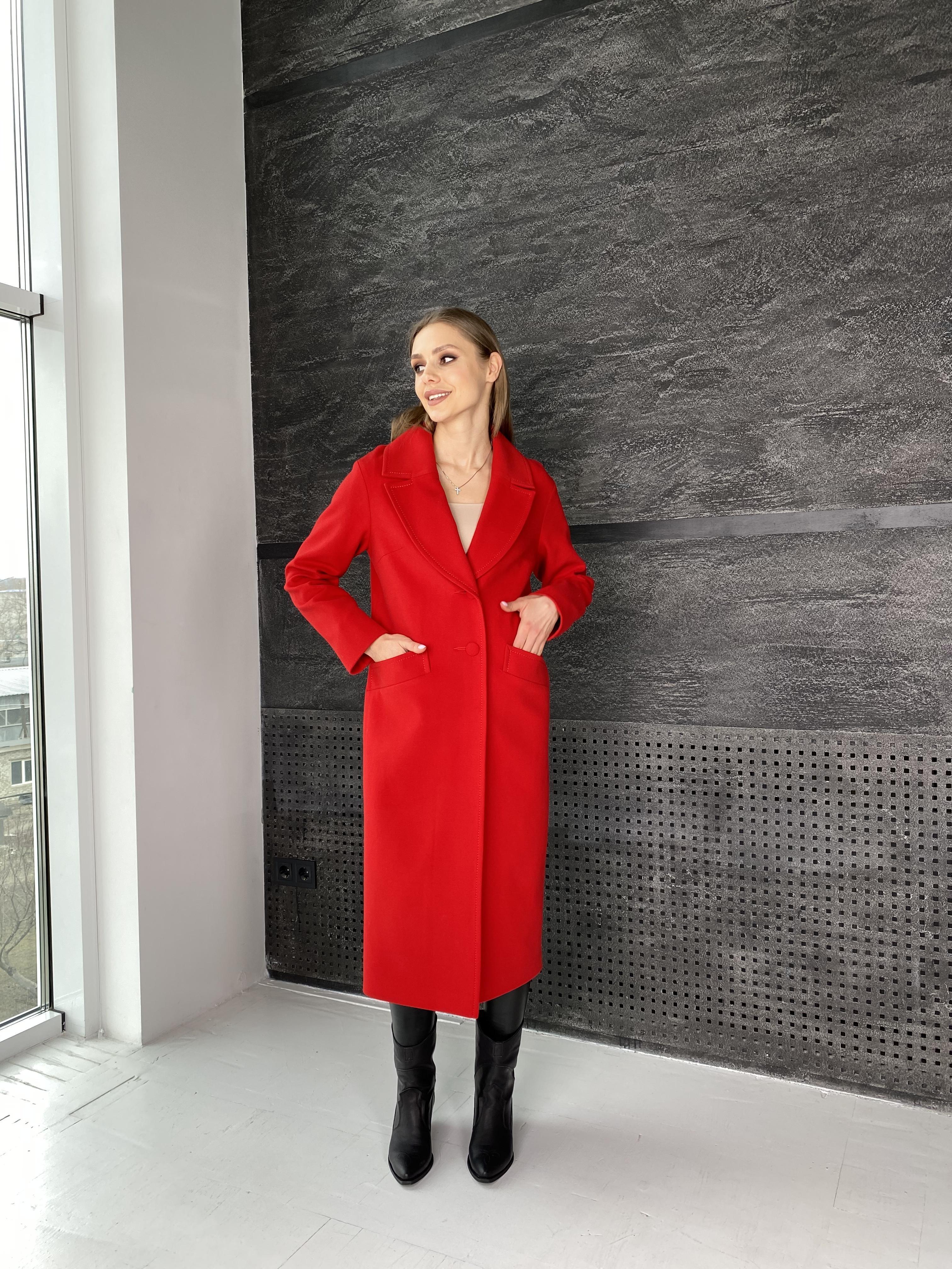Вейсона макси пальто из кашемира 10603 АРТ. 47431 Цвет: Красный - фото 5, интернет магазин tm-modus.ru