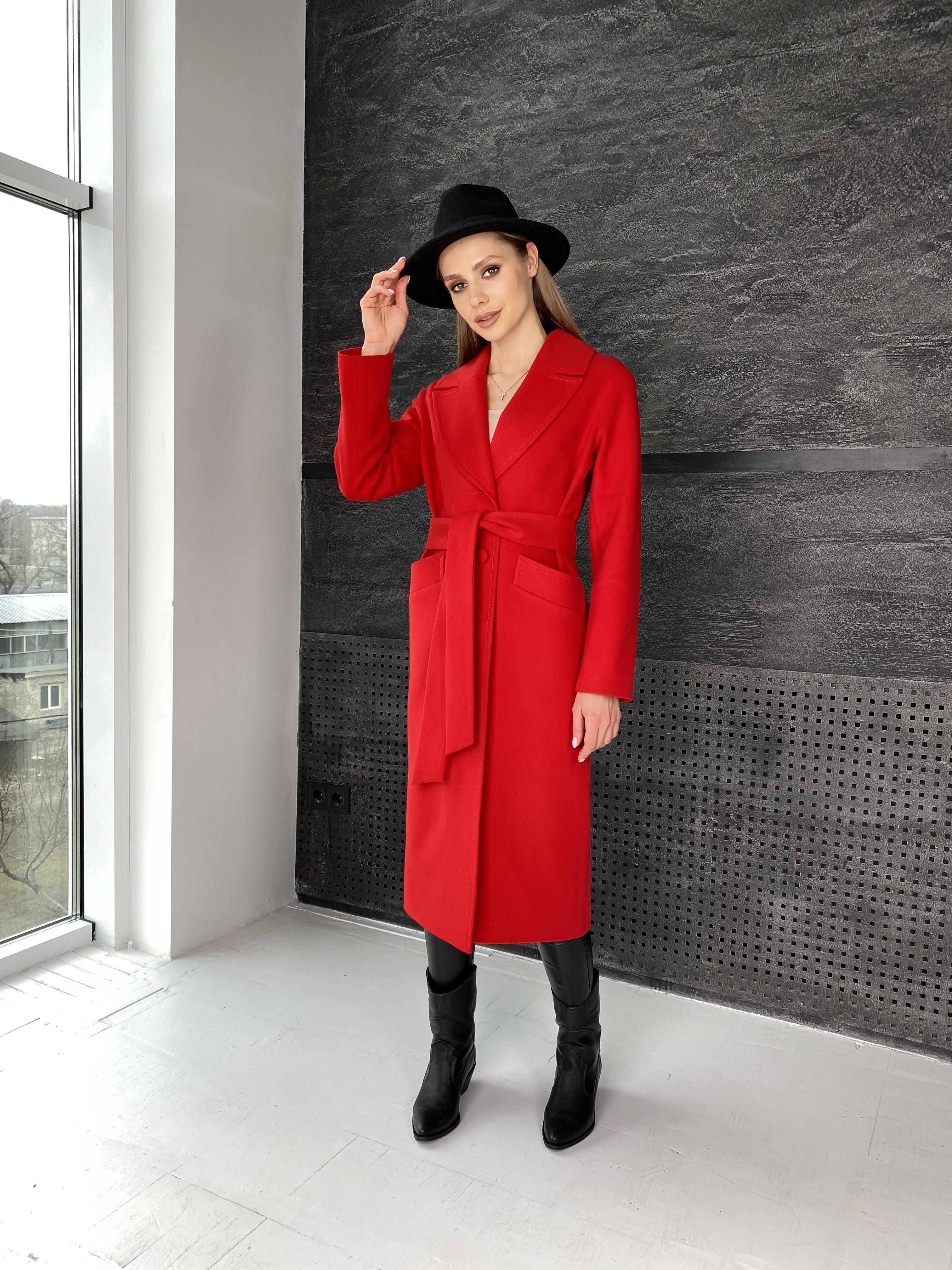 Вейсона макси пальто из кашемира 10603 АРТ. 47431 Цвет: Красный - фото 9, интернет магазин tm-modus.ru