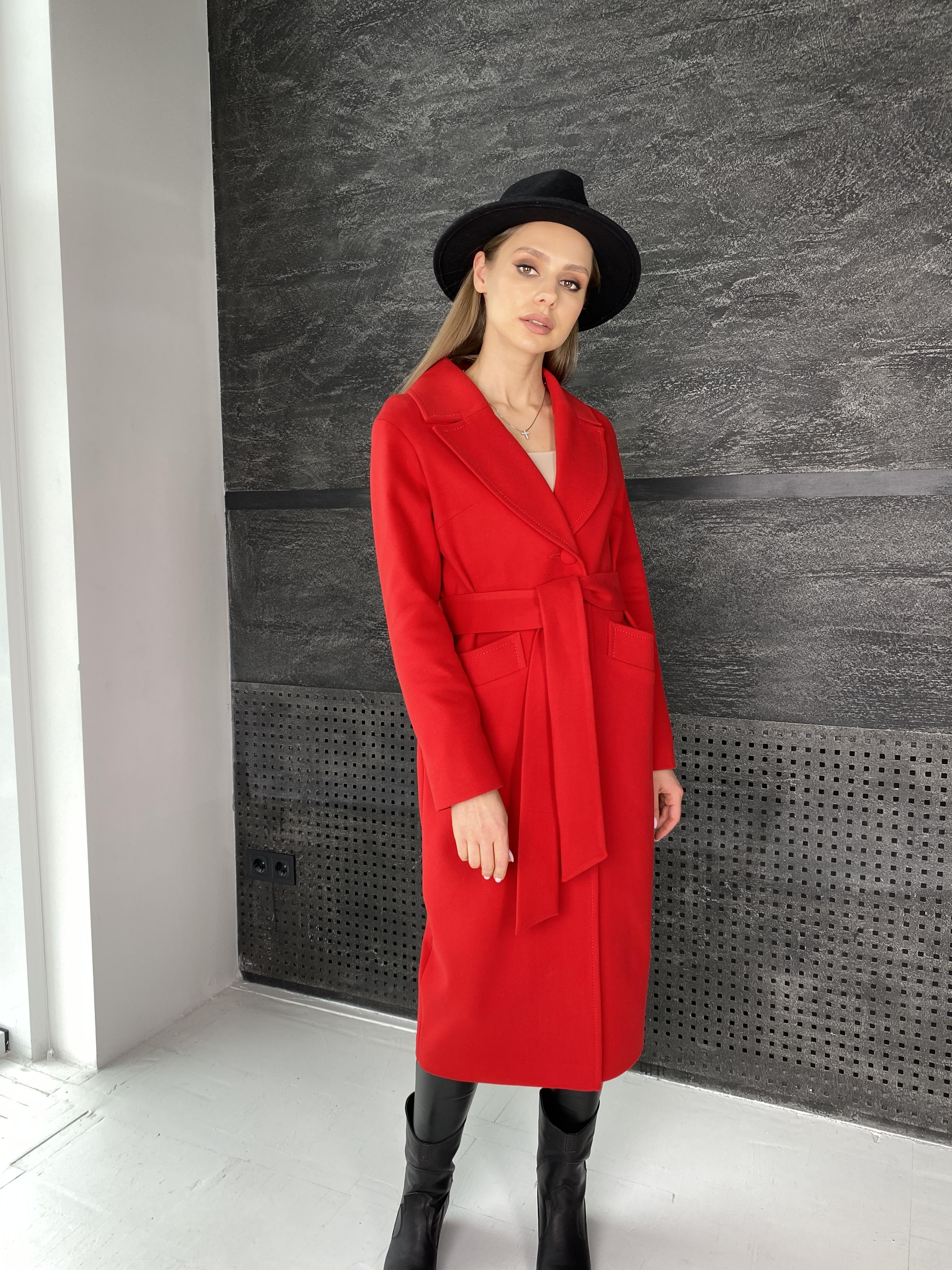Вейсона макси пальто из кашемира 10603 АРТ. 47431 Цвет: Красный - фото 10, интернет магазин tm-modus.ru