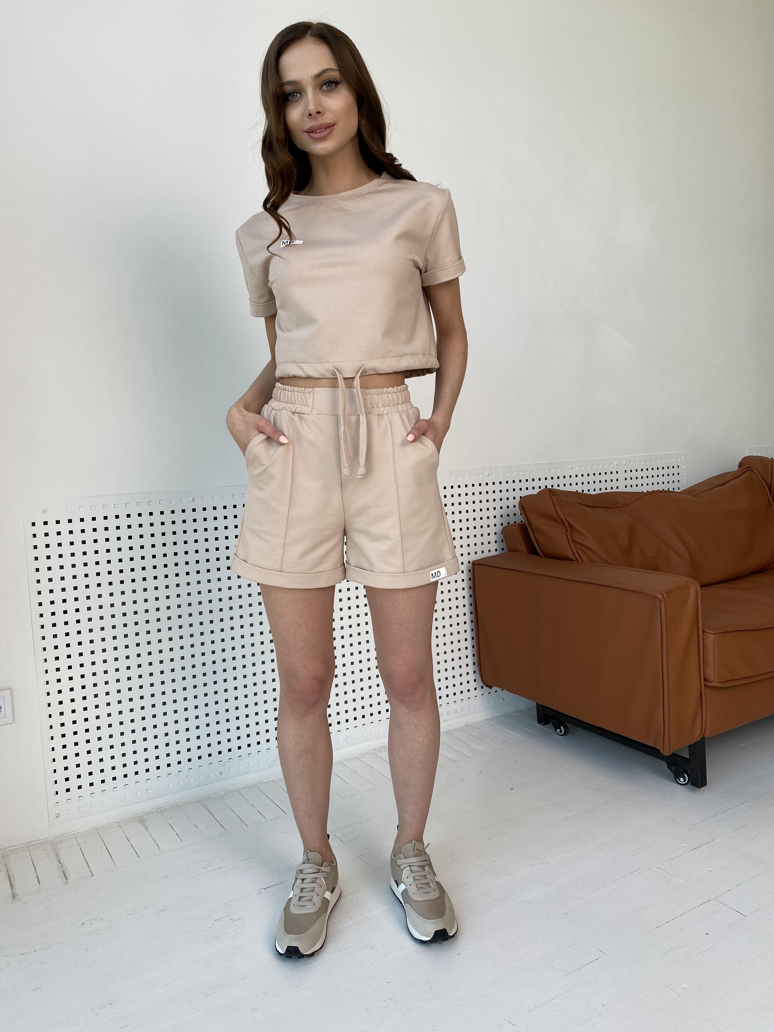 Фреш  костюм трикотажный двунитка тонкий 9252 АРТ. 45622 Цвет: Бежевый - фото 14, интернет магазин tm-modus.ru