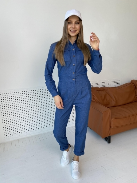 Купить Сафира 170 коттон джинс стрейч комбинезон 8861 оптом и в розницу