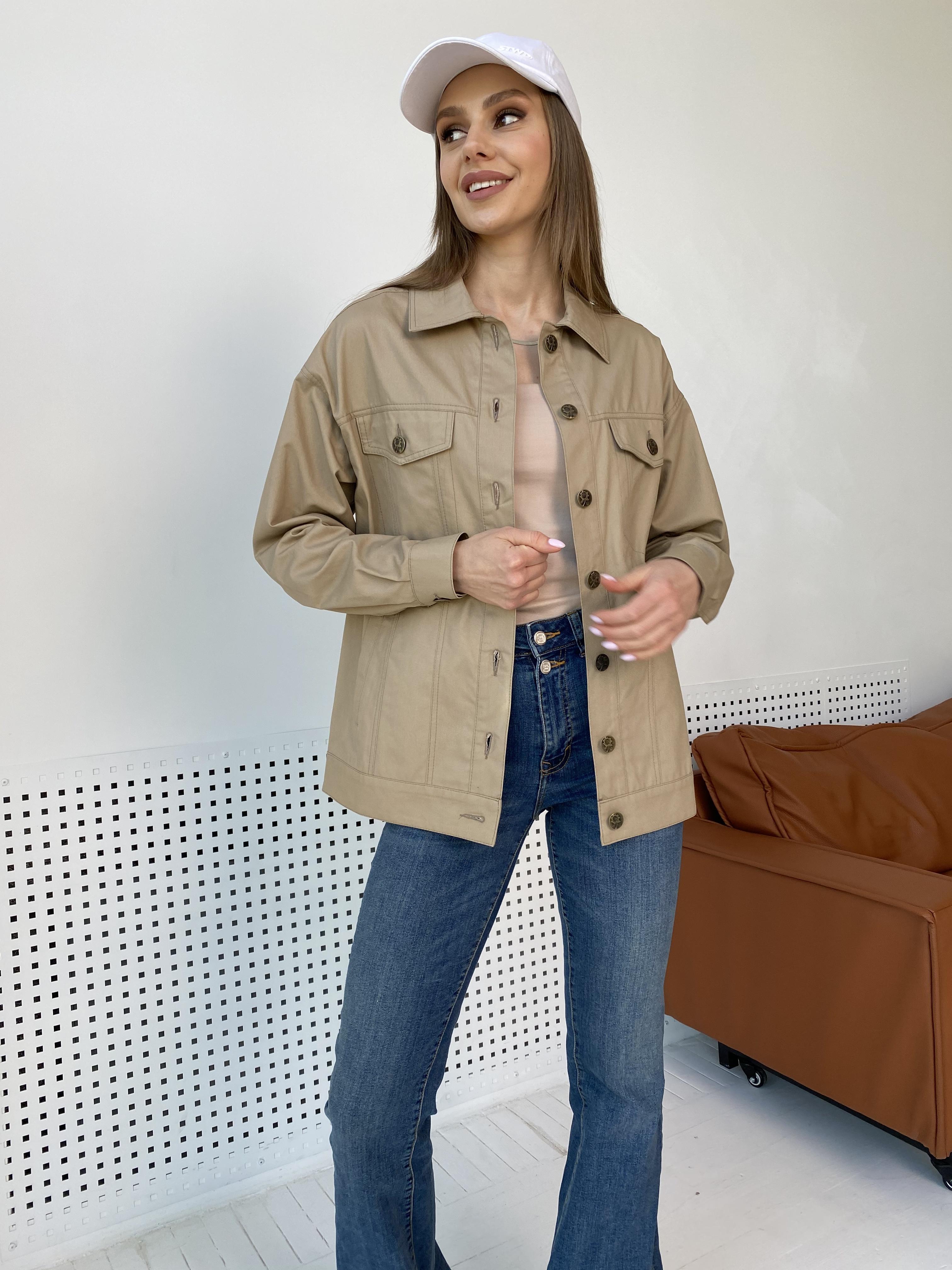 Жакет Релпей 9263 АРТ. 45599 Цвет: Бежевый - фото 5, интернет магазин tm-modus.ru