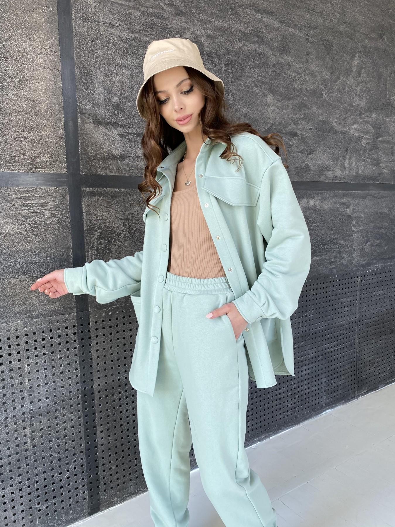 Респект костюм из трикотажа  3х нитка 11055 АРТ. 47576 Цвет: Олива Светлая - фото 2, интернет магазин tm-modus.ru