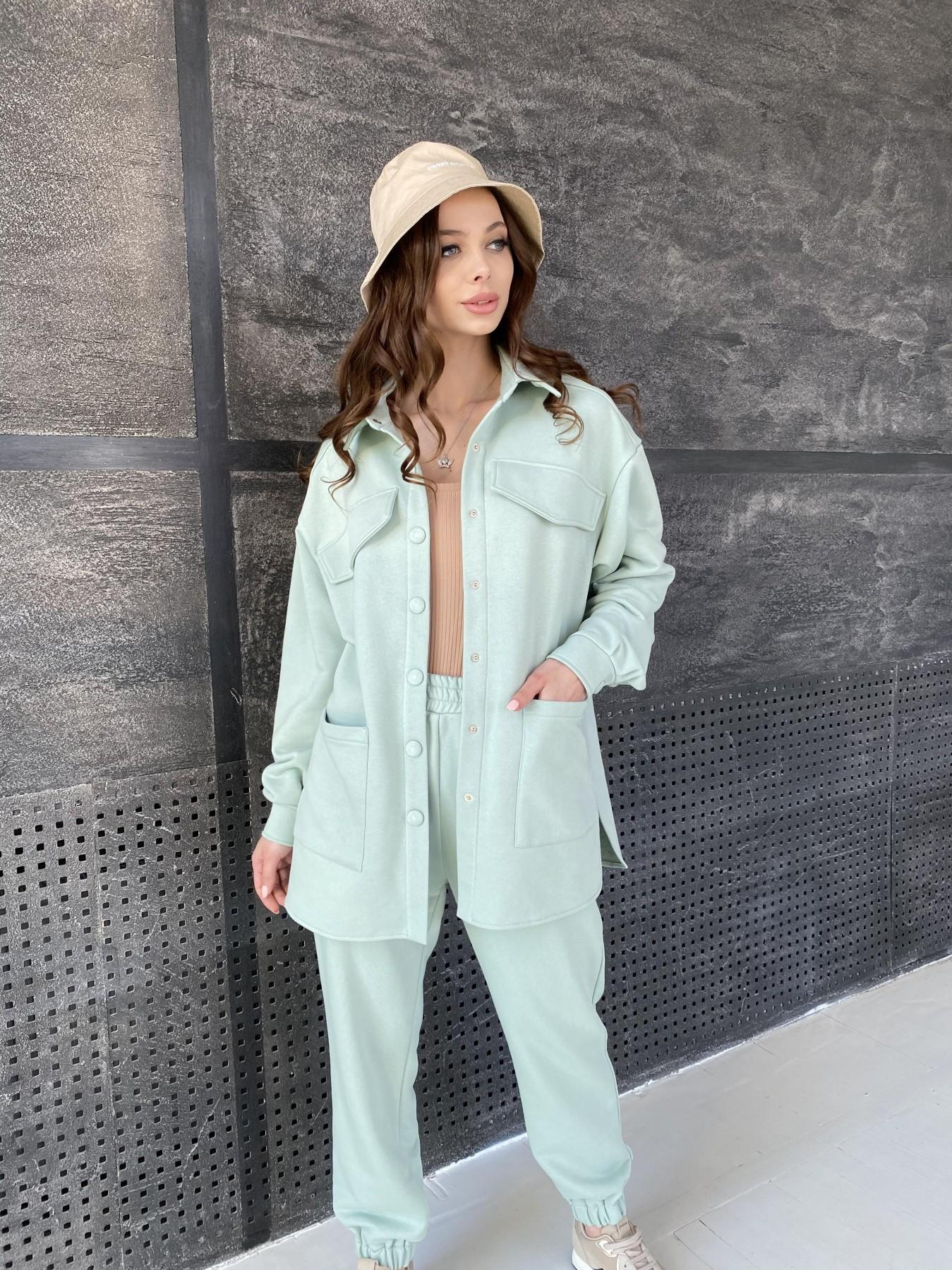 Респект костюм из трикотажа  3х нитка 11055 АРТ. 47576 Цвет: Олива Светлая - фото 3, интернет магазин tm-modus.ru