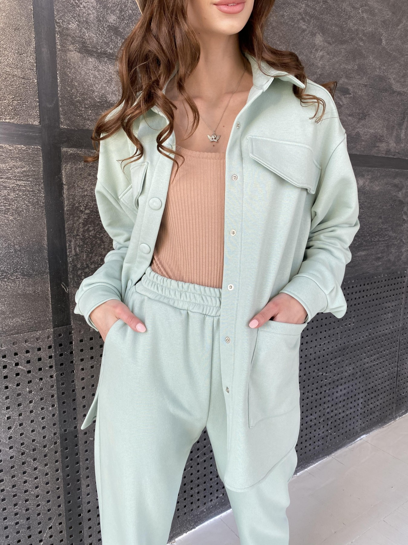 Респект костюм из трикотажа  3х нитка 11055 АРТ. 47576 Цвет: Олива Светлая - фото 5, интернет магазин tm-modus.ru