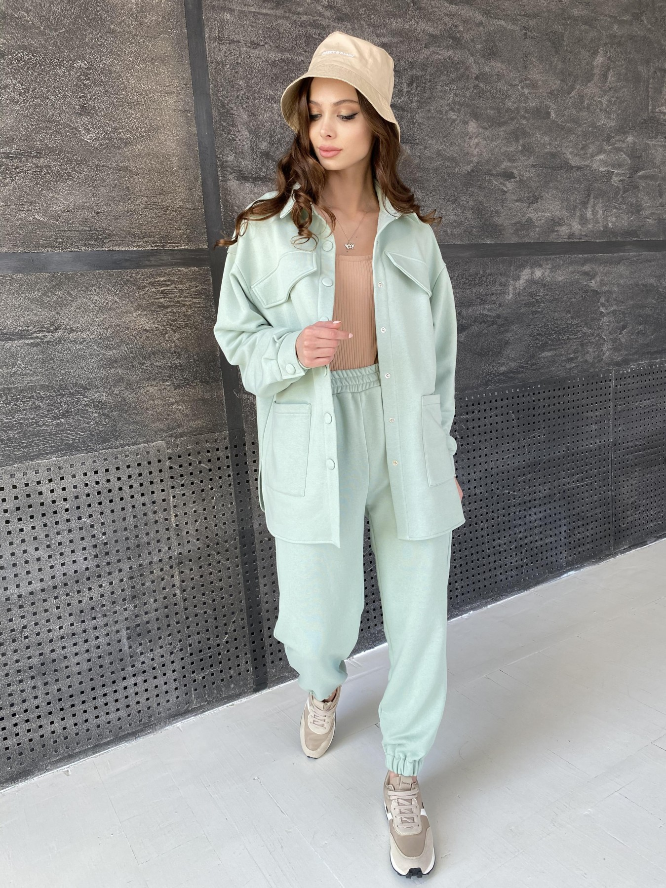 Респект костюм из трикотажа  3х нитка 11055 АРТ. 47576 Цвет: Олива Светлая - фото 6, интернет магазин tm-modus.ru