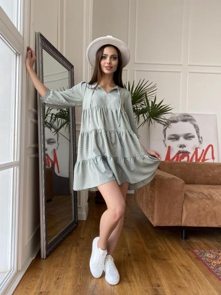 """Купить """"Нинель"""" платье из софта с принтом 11114 оптом и в розницу"""