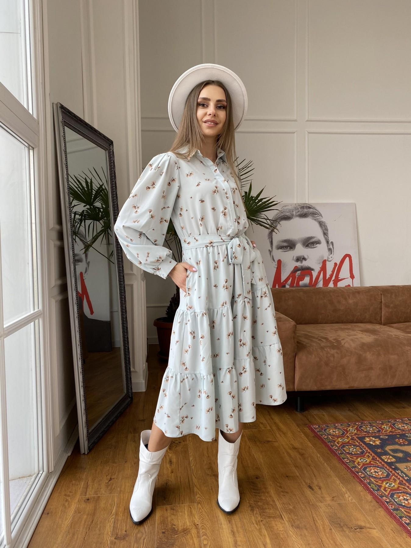 Купить платья оптом в Украине Лилия платье из софта с принтом 11108