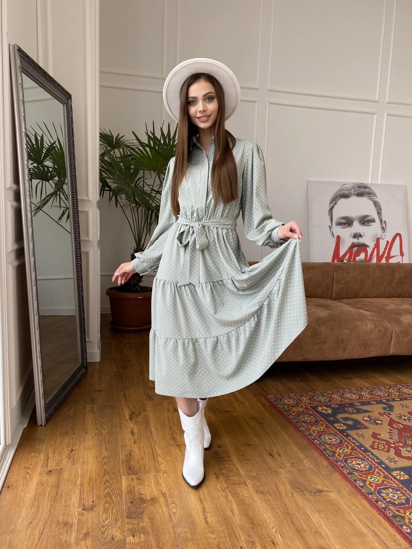 Трикотажные платья оптом Лилия платье из софта с принтом 11108