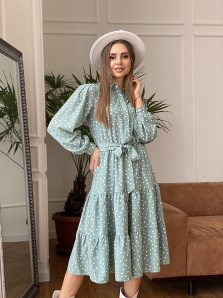 """Купить """"Лилия"""" платье из софта с принтом 11108 оптом и в розницу"""