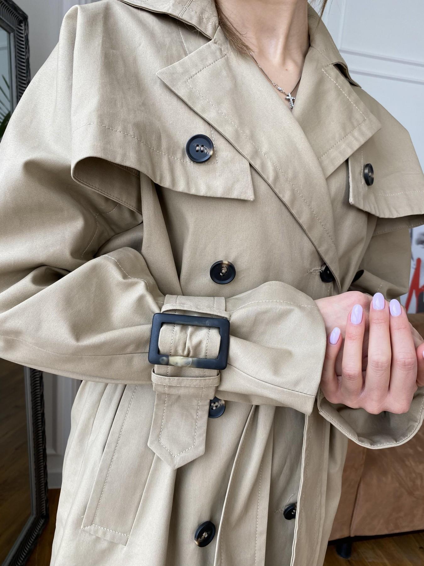 Шик тренч  из плотного коттона 10870 АРТ. 47333 Цвет: Бежевый - фото 5, интернет магазин tm-modus.ru