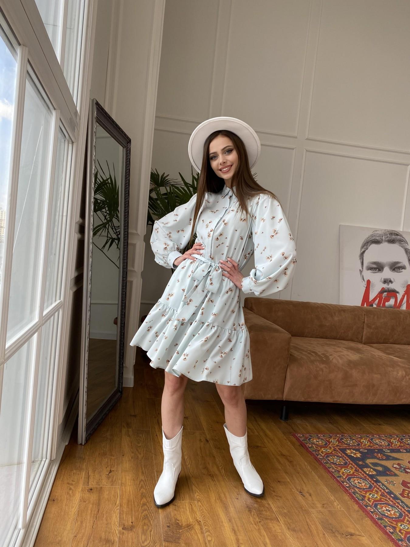 Молизе  платье из софта с принтом 11110 АРТ. 47602 Цвет: МятаСв/БежЦветокМел - фото 4, интернет магазин tm-modus.ru