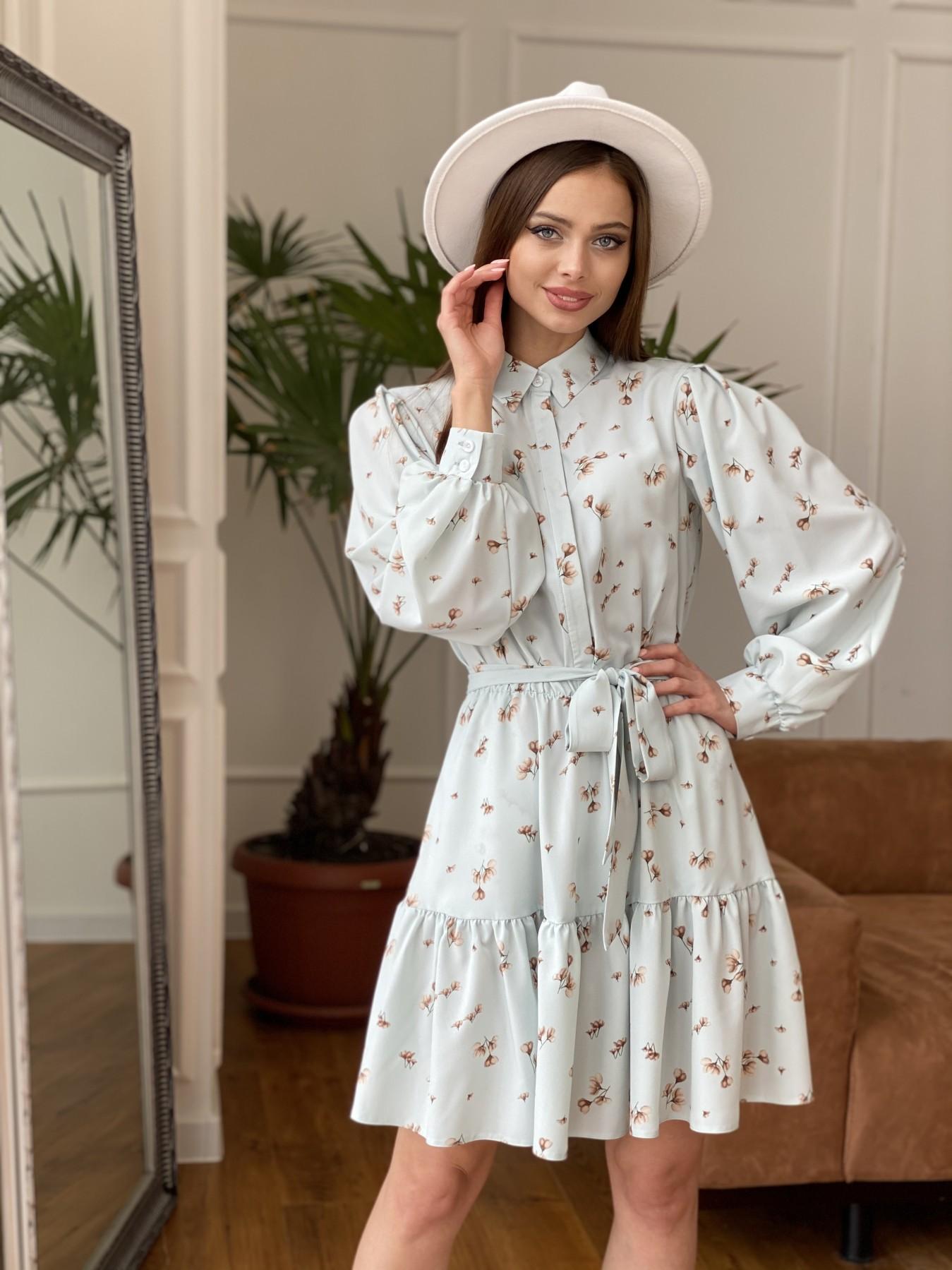 Молизе  платье из софта с принтом 11110 АРТ. 47602 Цвет: МятаСв/БежЦветокМел - фото 5, интернет магазин tm-modus.ru
