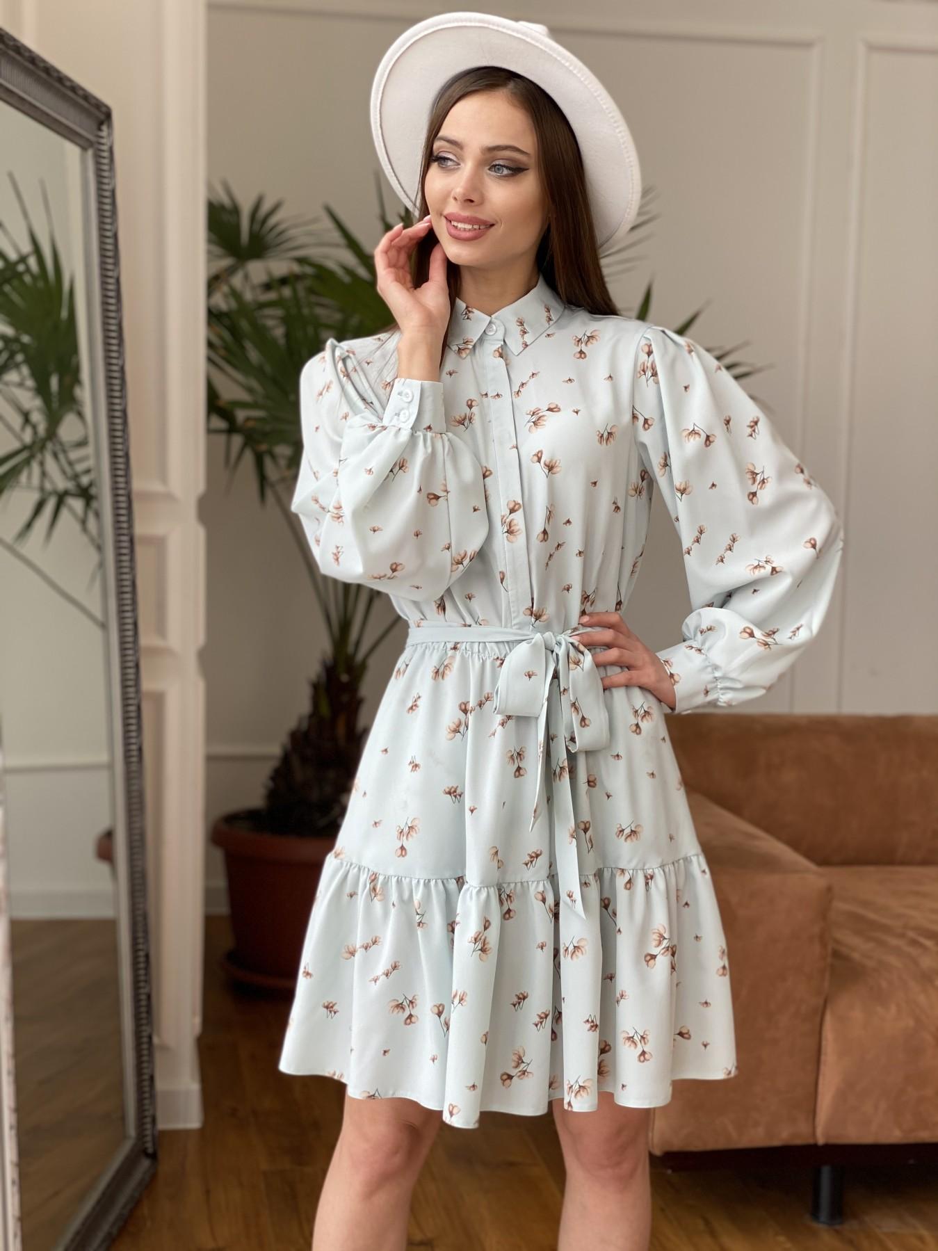 Купить платья в интернет магазине Молизе  платье из софта с принтом 11110