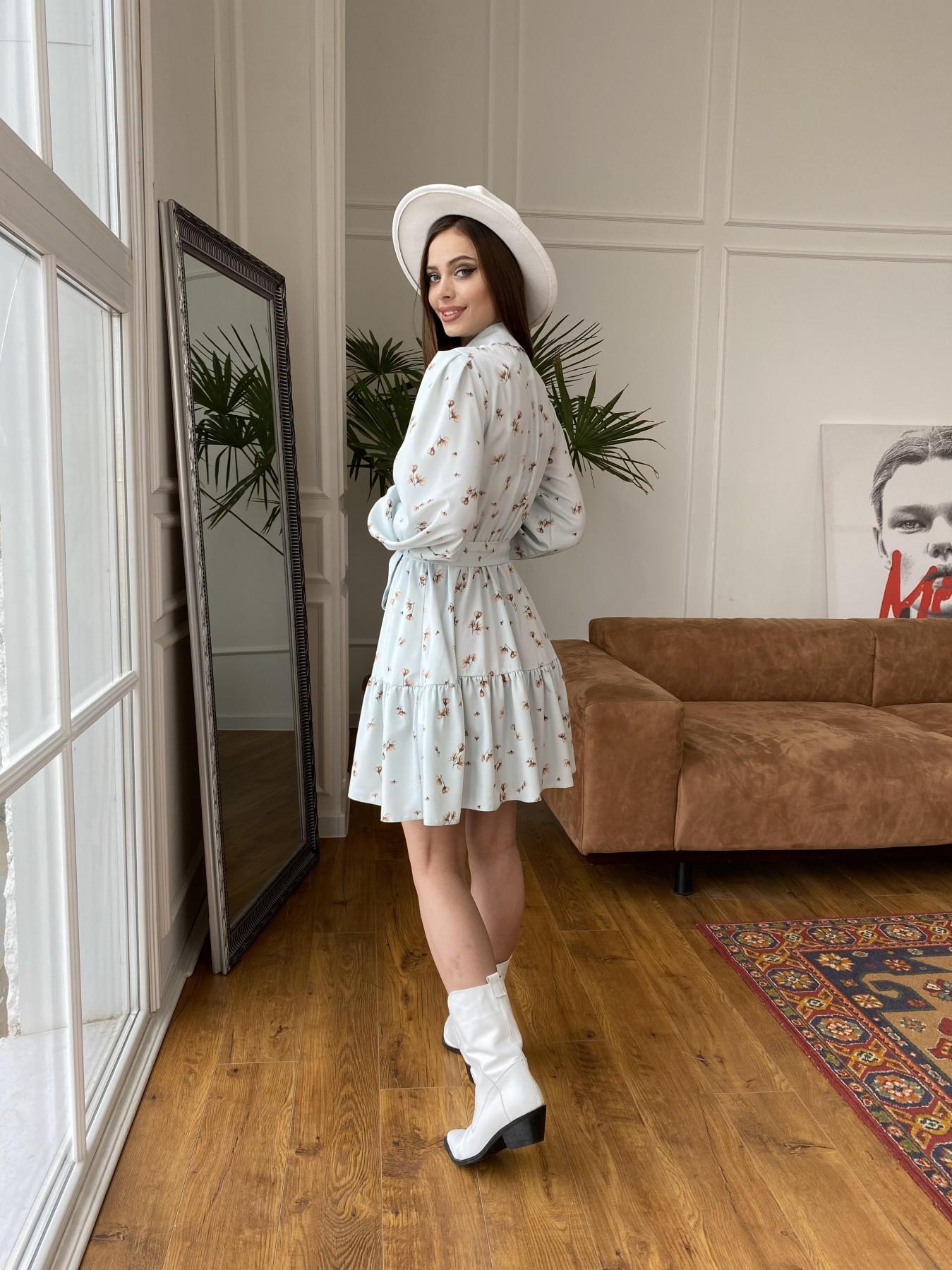 Молизе  платье из софта с принтом 11110 АРТ. 47602 Цвет: МятаСв/БежЦветокМел - фото 7, интернет магазин tm-modus.ru